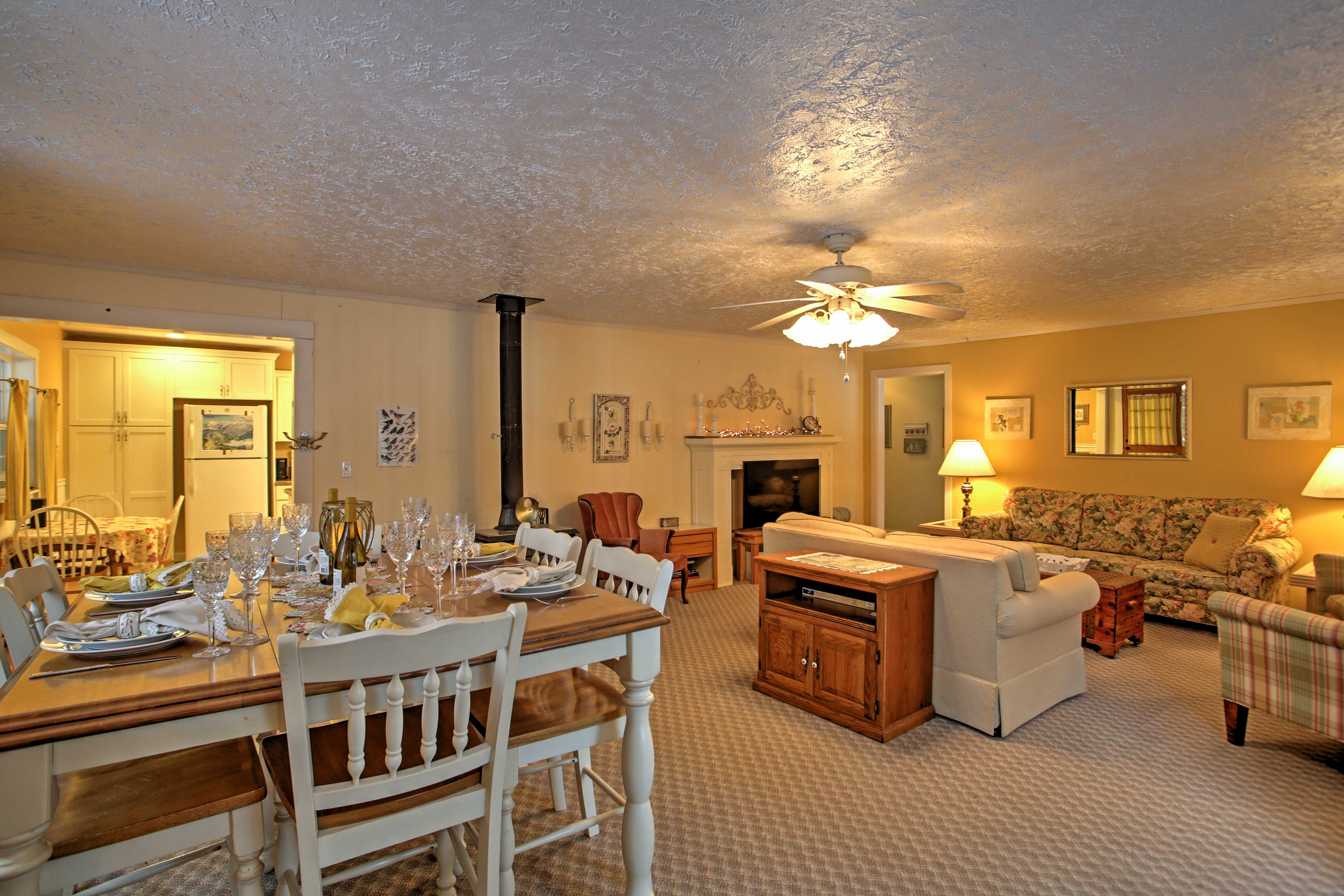 The spacious layout makes this area warm and inviting.