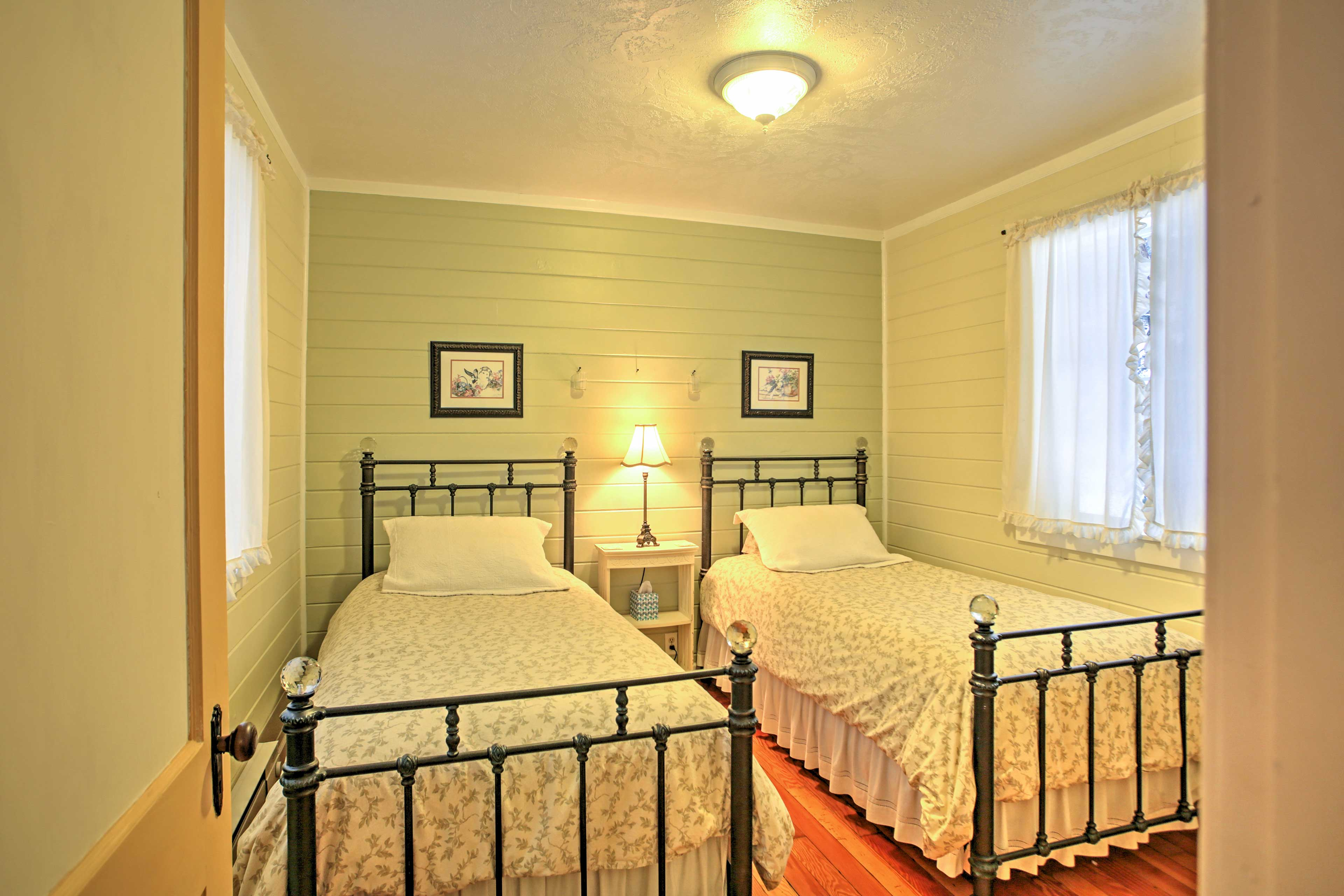 Bedroom 4 offers 2 plush twin-sized beds.