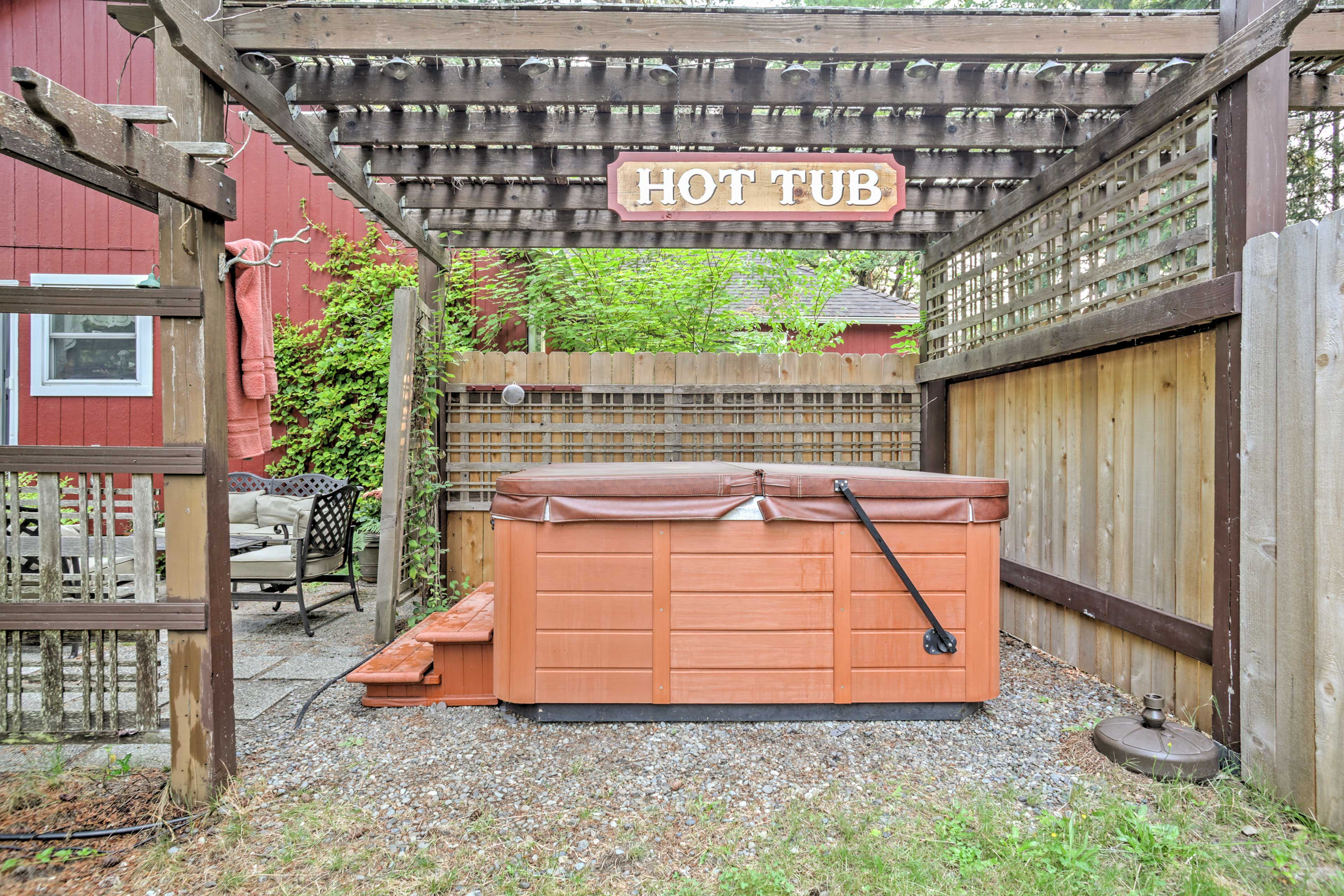 Enjoy shared access to the property's hot tub!