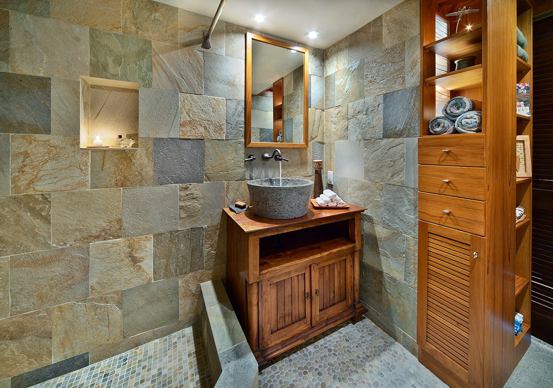 Bedtime routines will be a treat in this sleek bathroom.