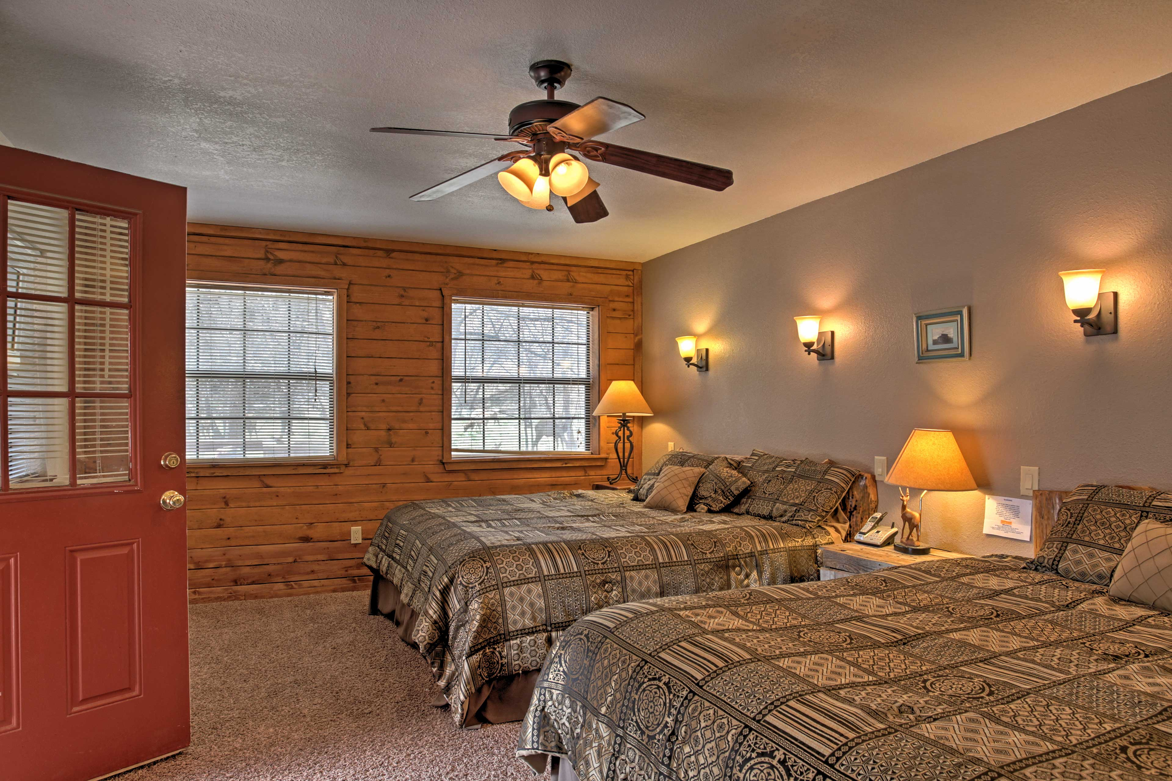 This bedroom features 2 king-sized beds, great for siblings or friends sharing a room.