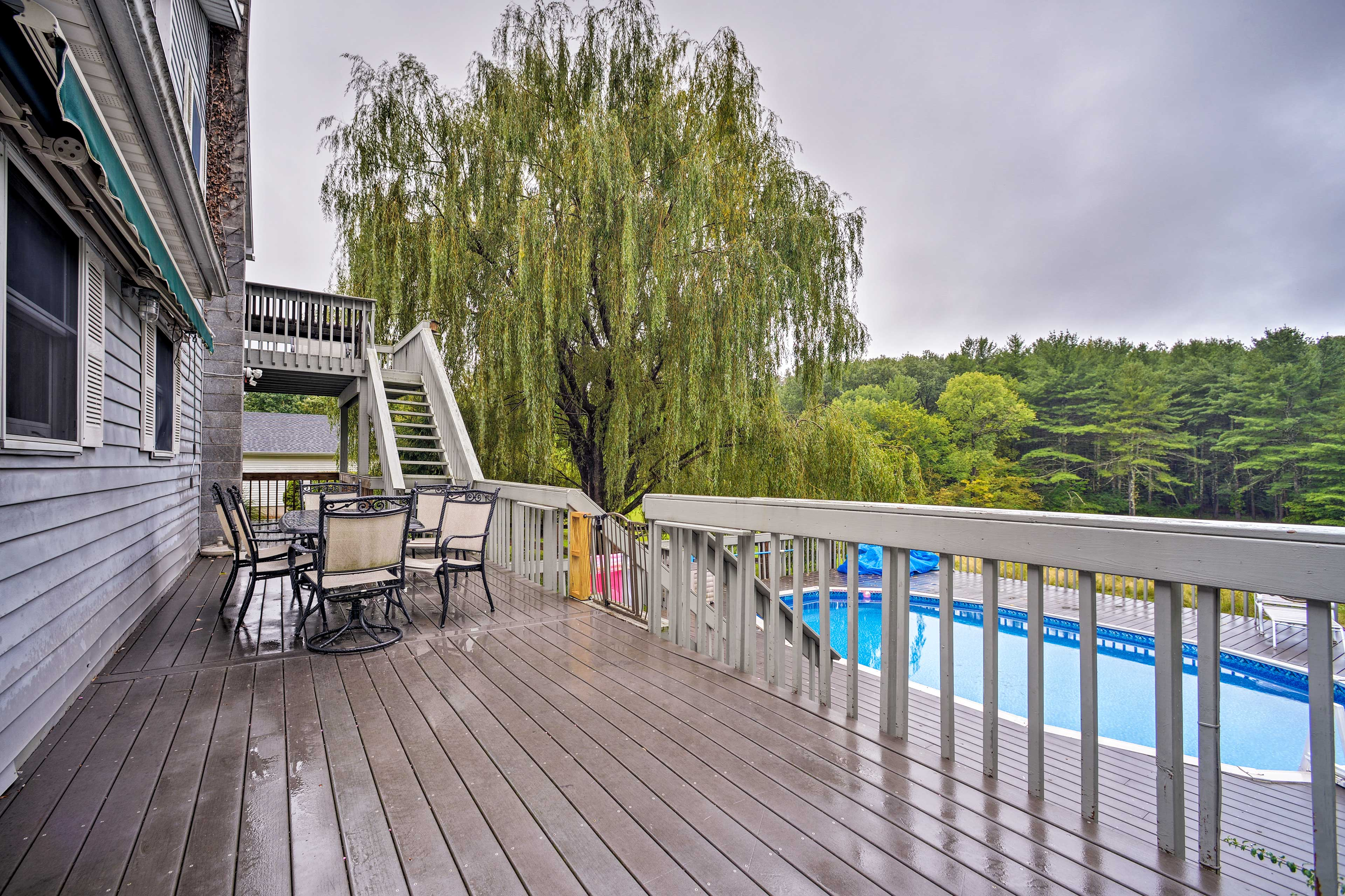 Get a little fresh air out on the deck!