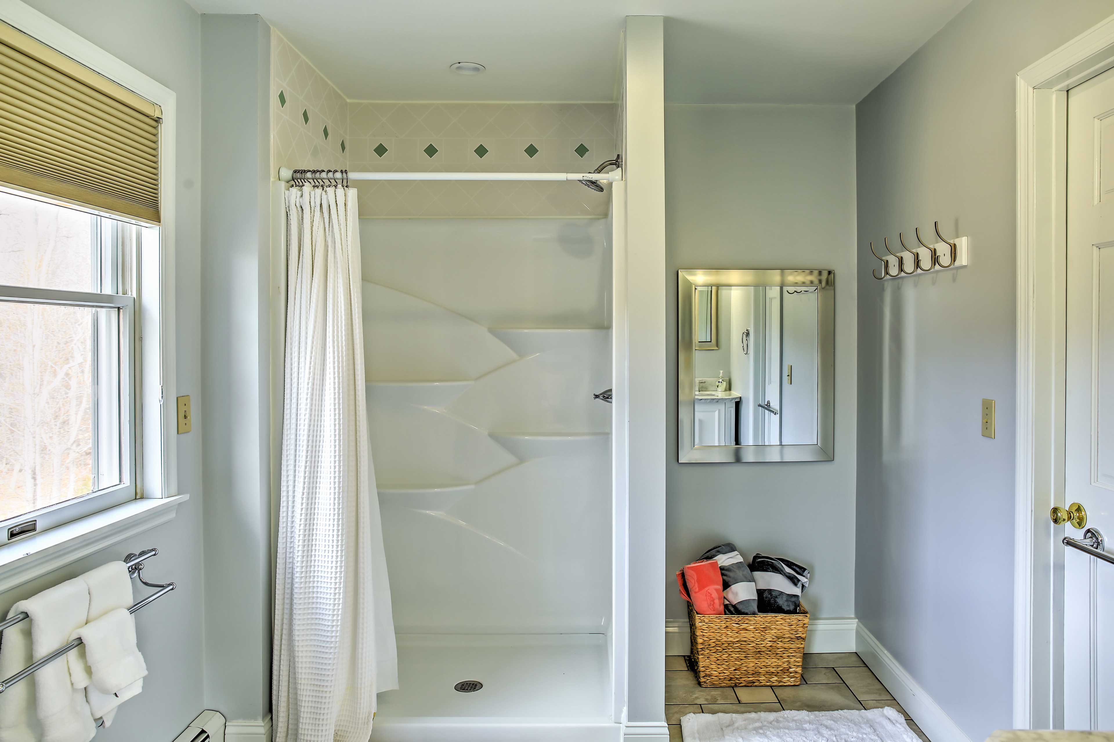 Wake up and rinse off in this shower.