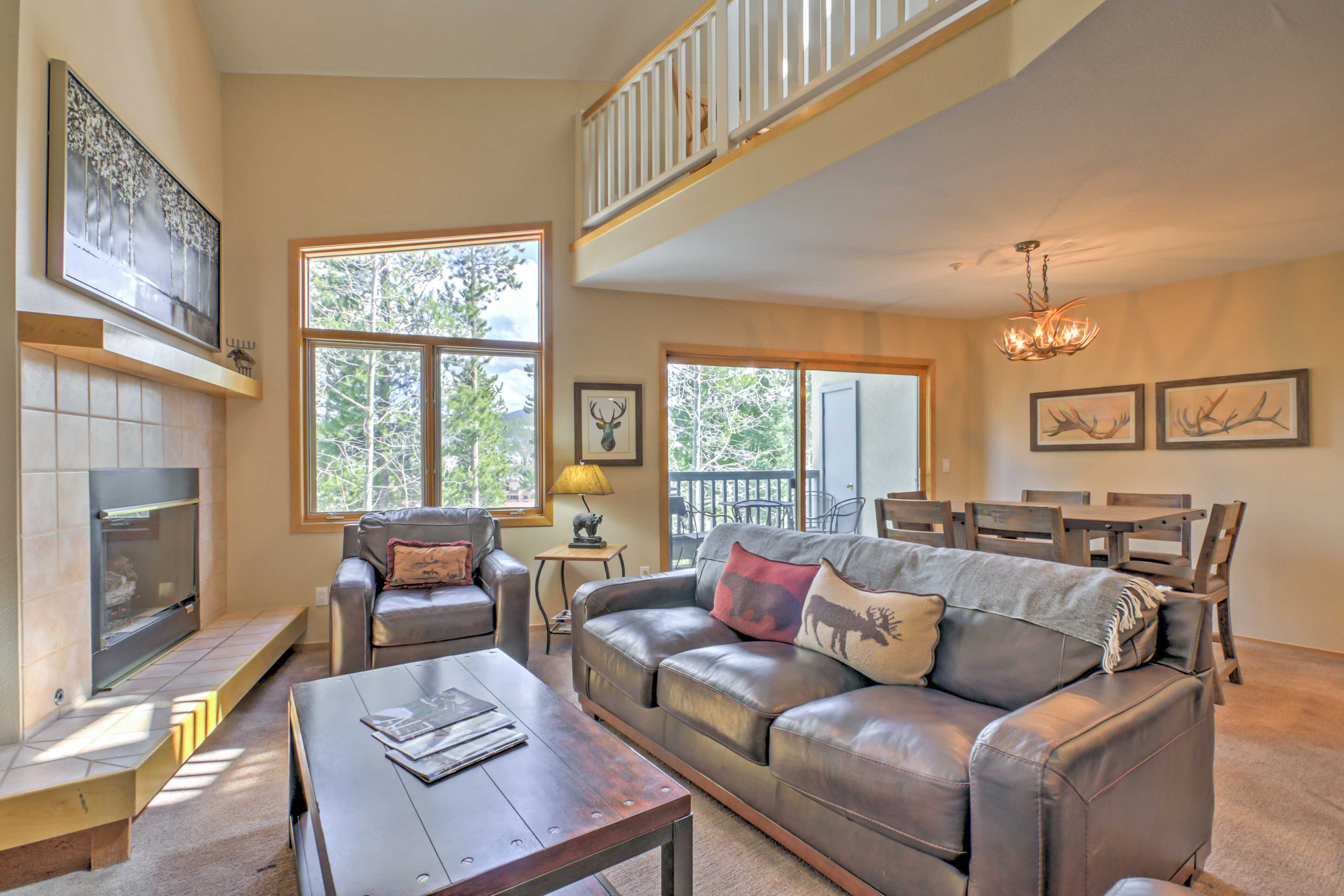You'll love the home's high end finishes and high ceilings.