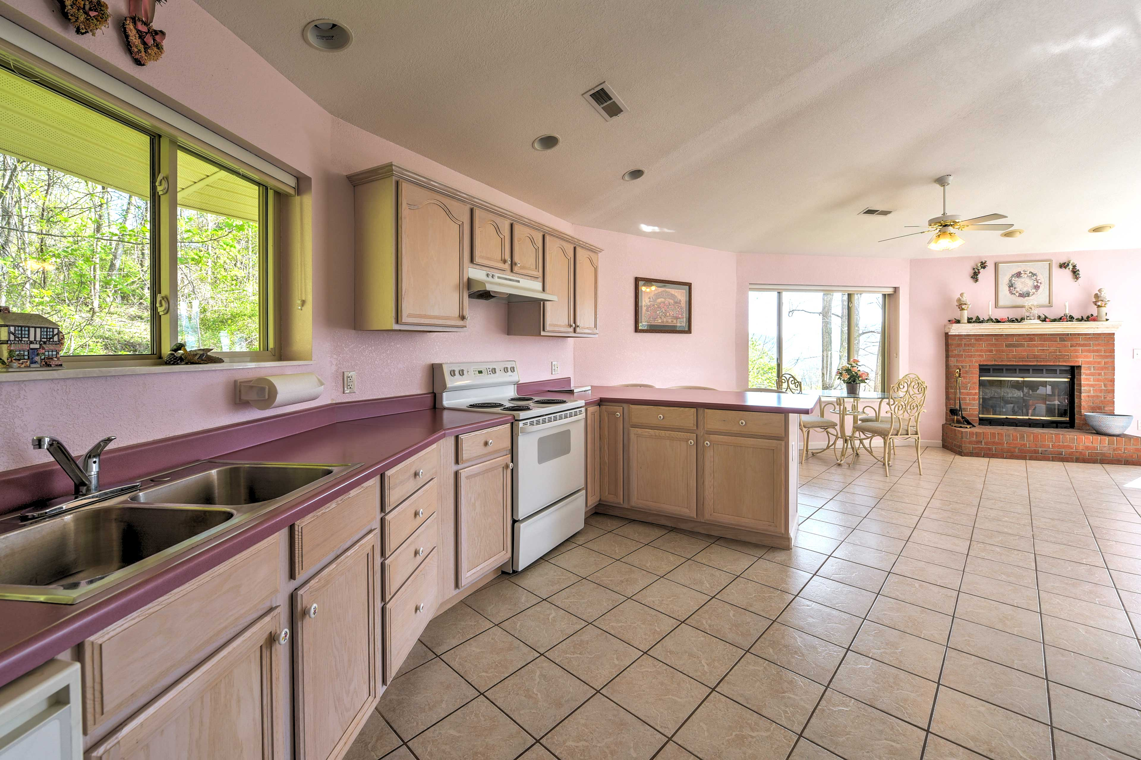 There's plenty of space for multiple chefs in this kitchen!