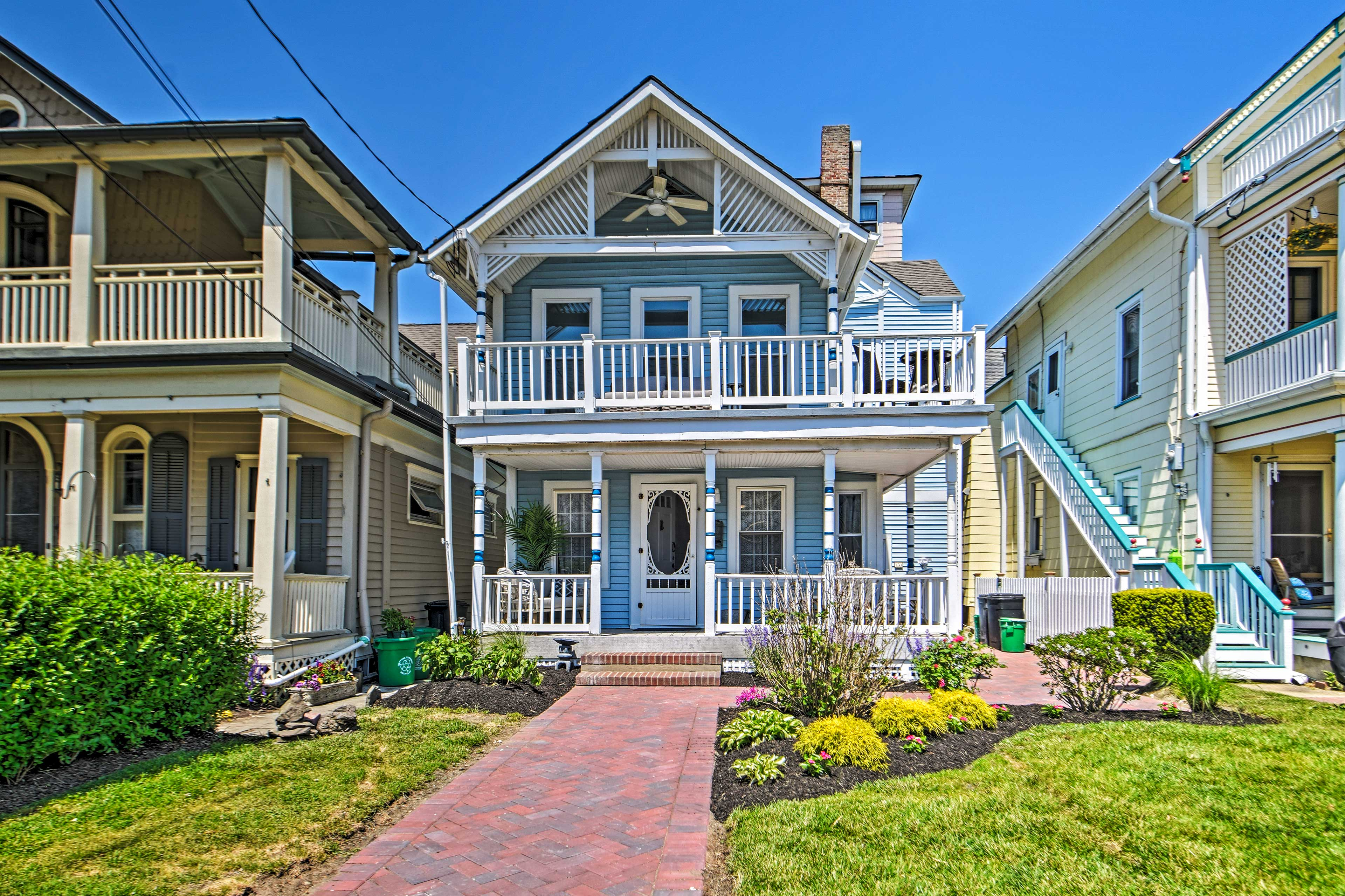 Ocean Grove Vacation Rental | 1BR | 1BA | 800 Sq Ft | Lower-Level Unit