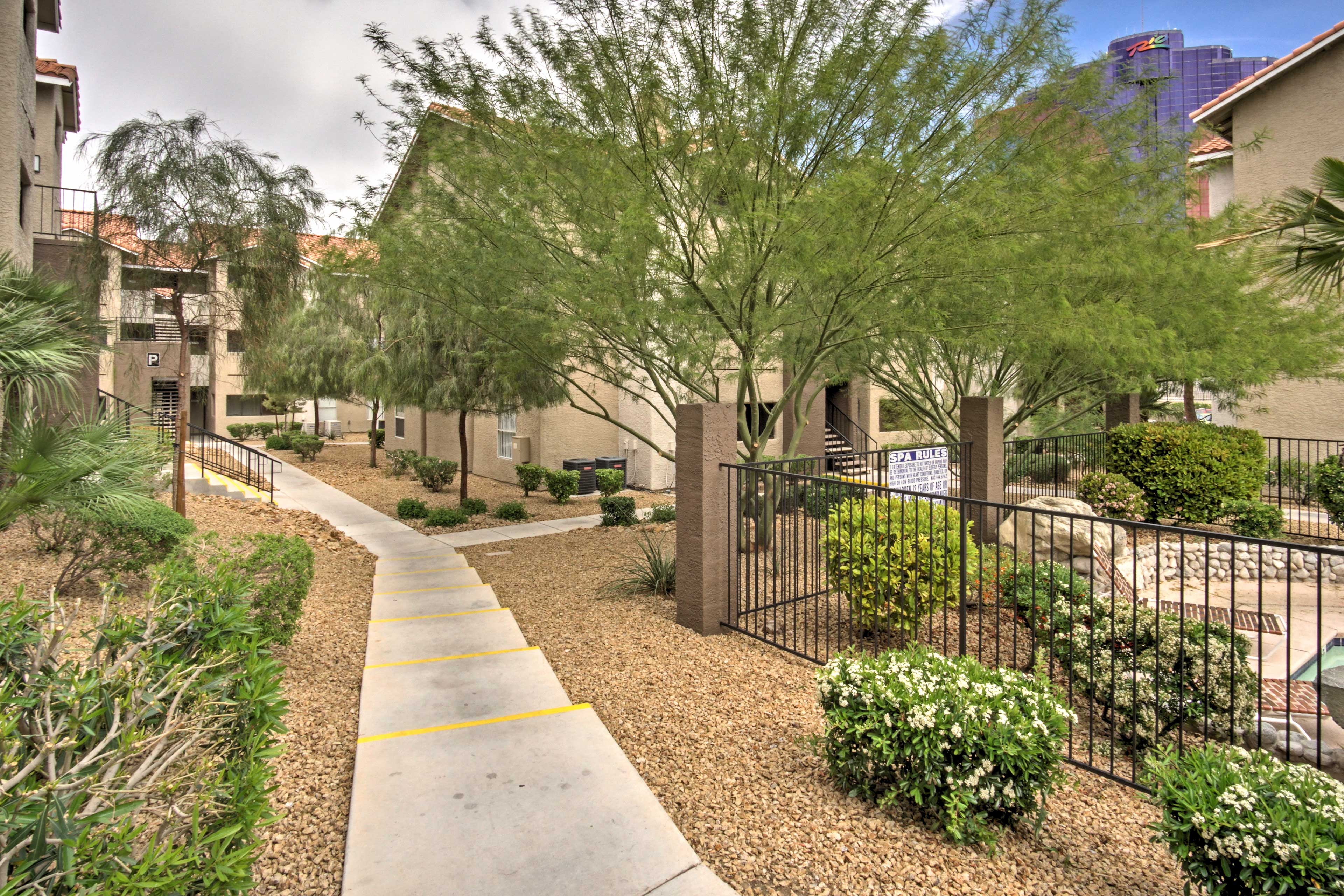 Relish the community's manicured and groomed gardens that surround the property.