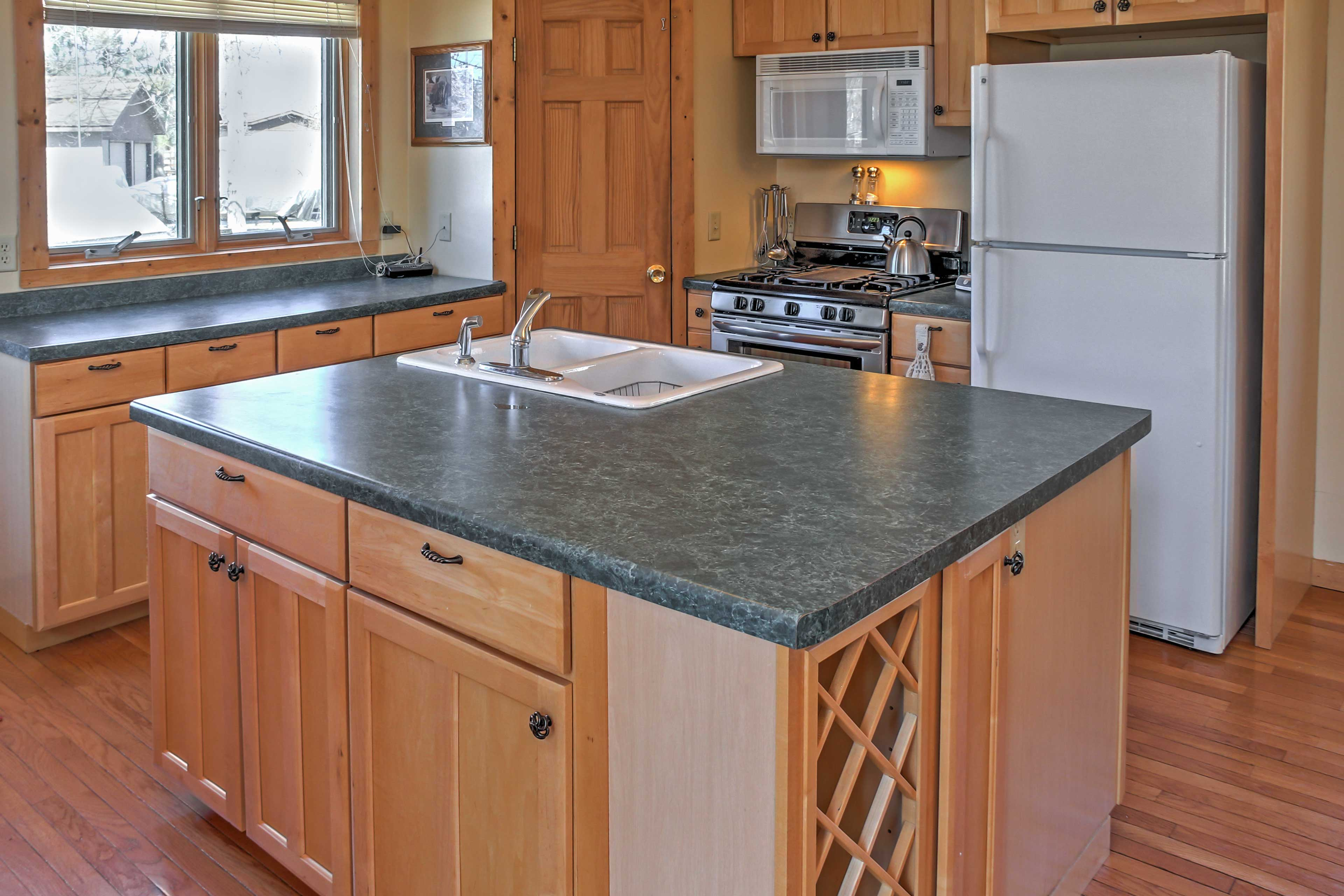 Whip up your favorite recipes in the fully equipped kitchen.