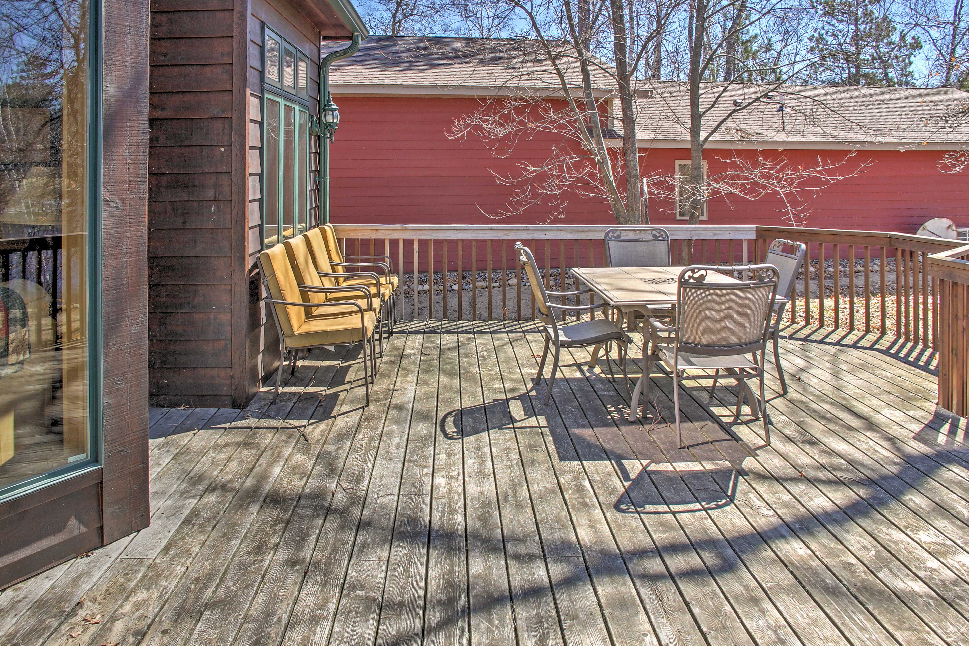 Early risers will look forward to sipping coffee outside on the private deck.