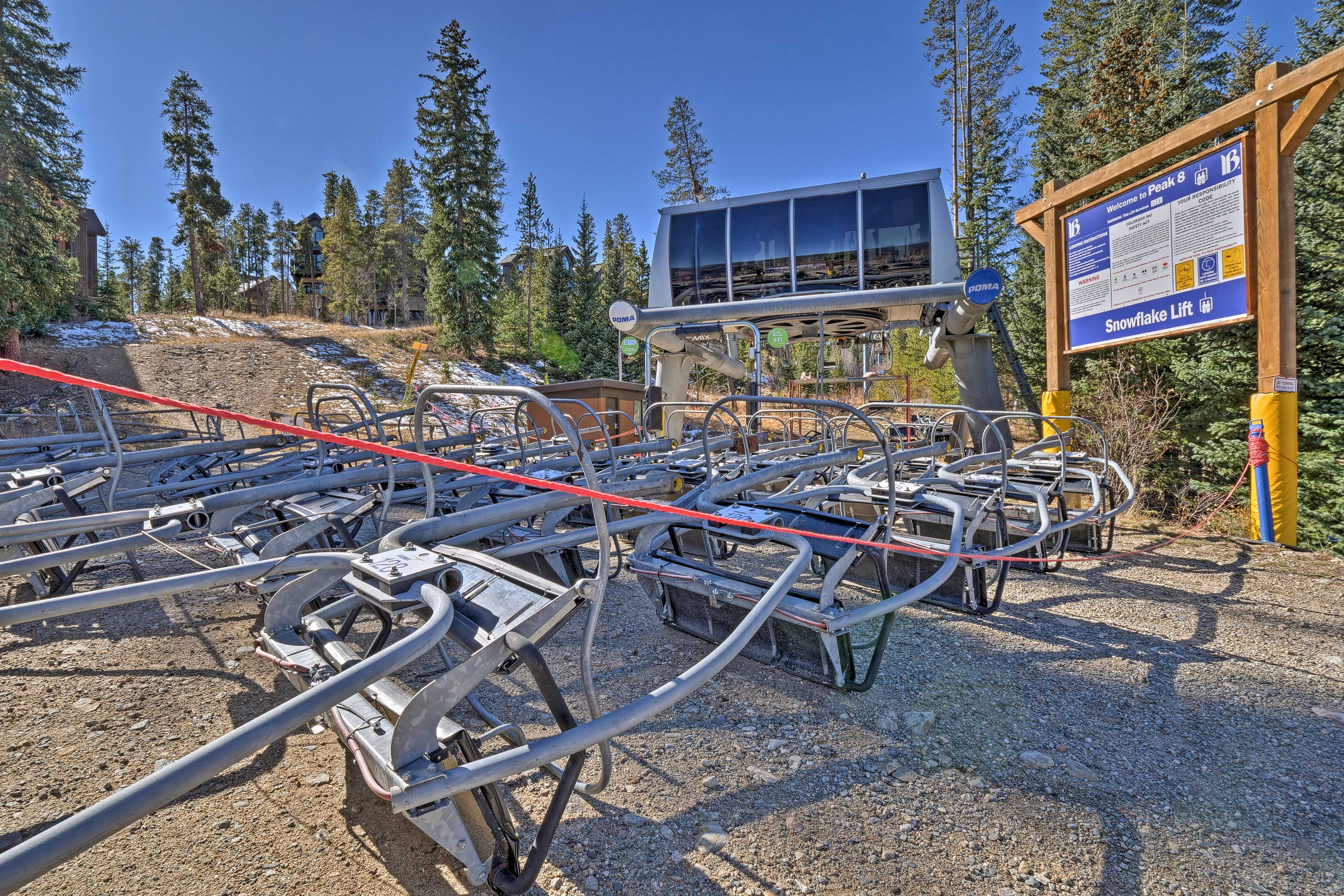 The property is walking distance from Snowflake Chair lift!