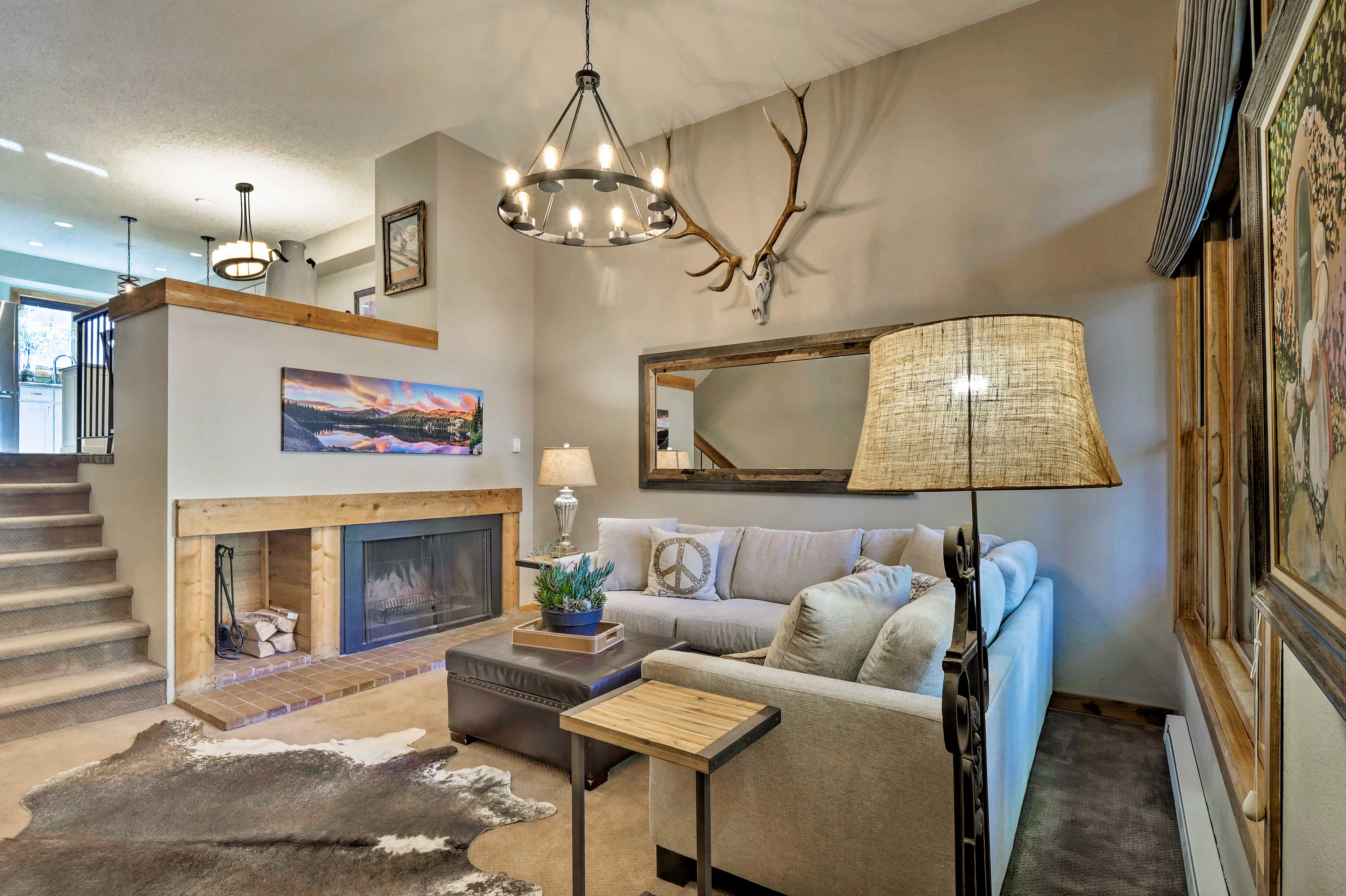 This 2-bedroom, 2.5-bathroom townhome comfortably sleeps up to 8 guests.