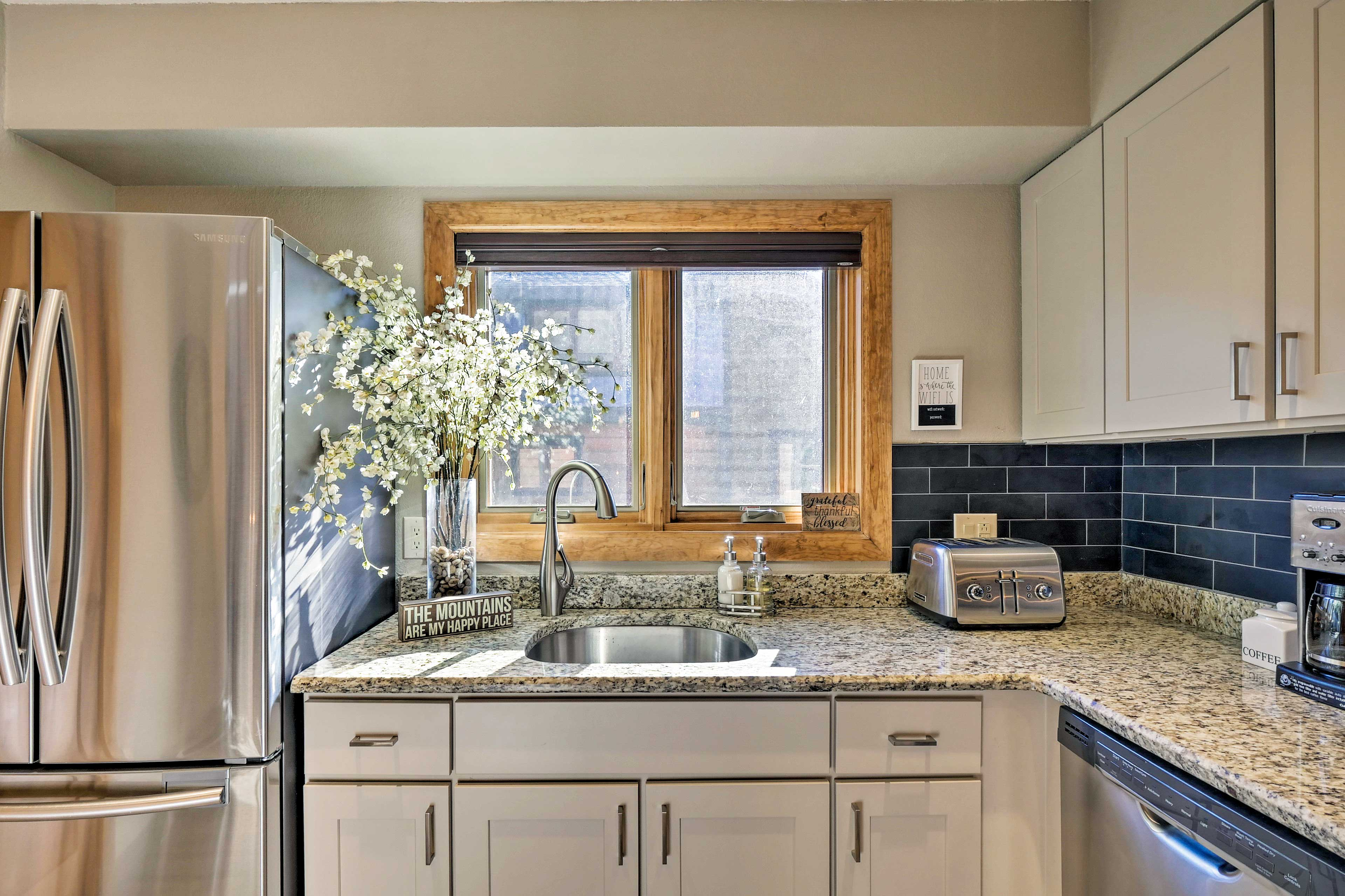Ample counter space makes cooking at home a breeze.