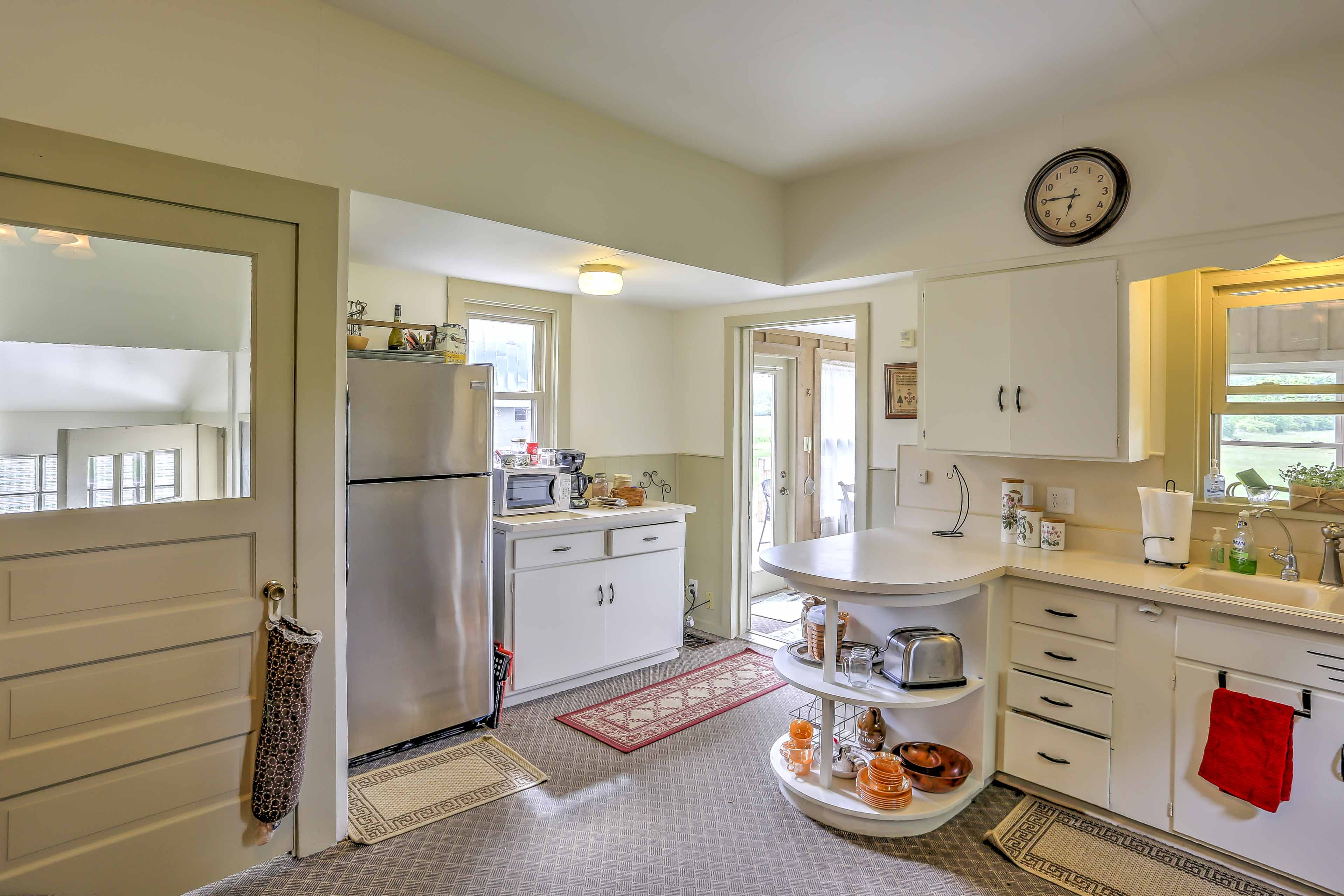 The kitchen is currently being renovated, but still fully functional for use.