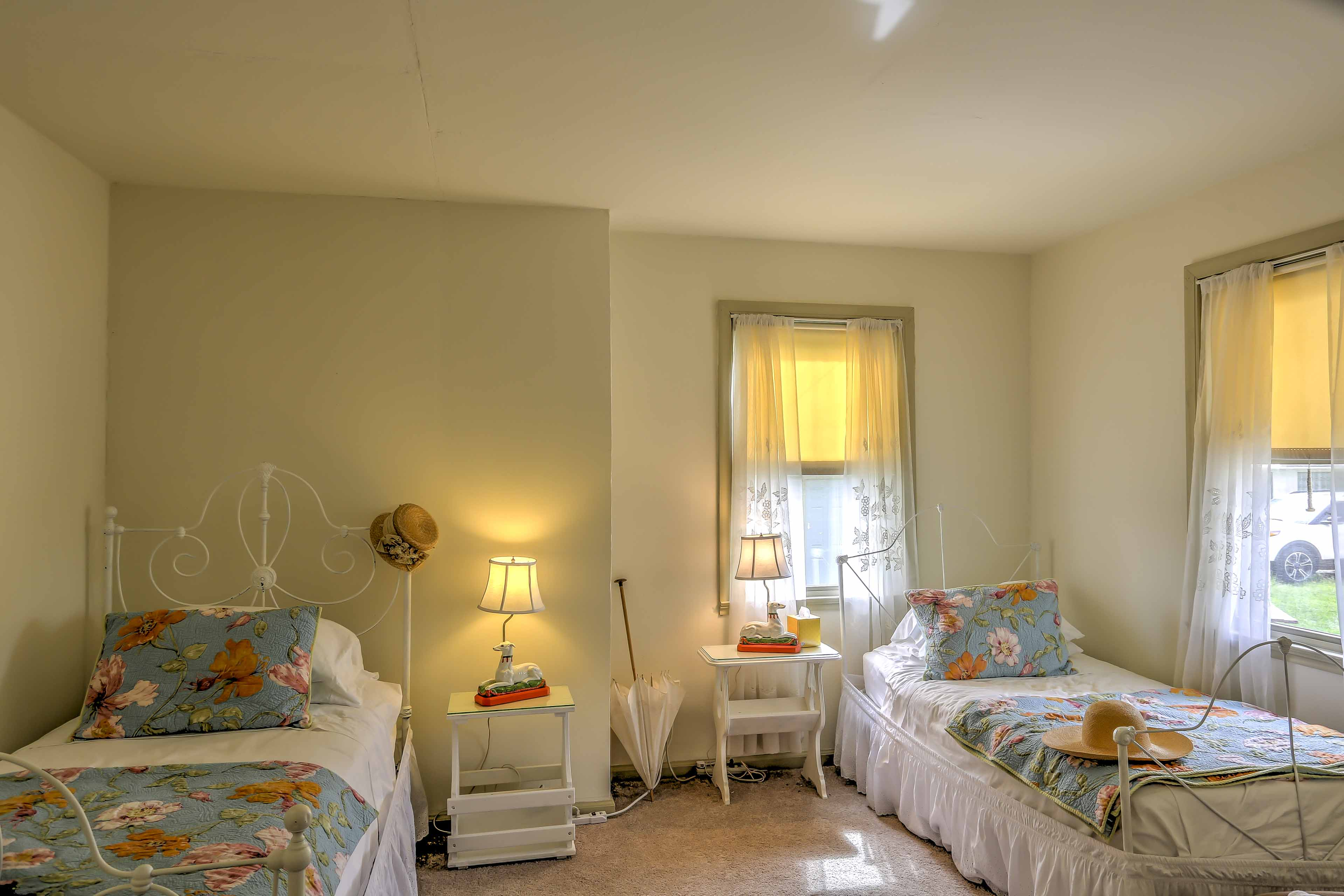 This bedroom provides 2 twin-sized beds, perfect for younger travelers.