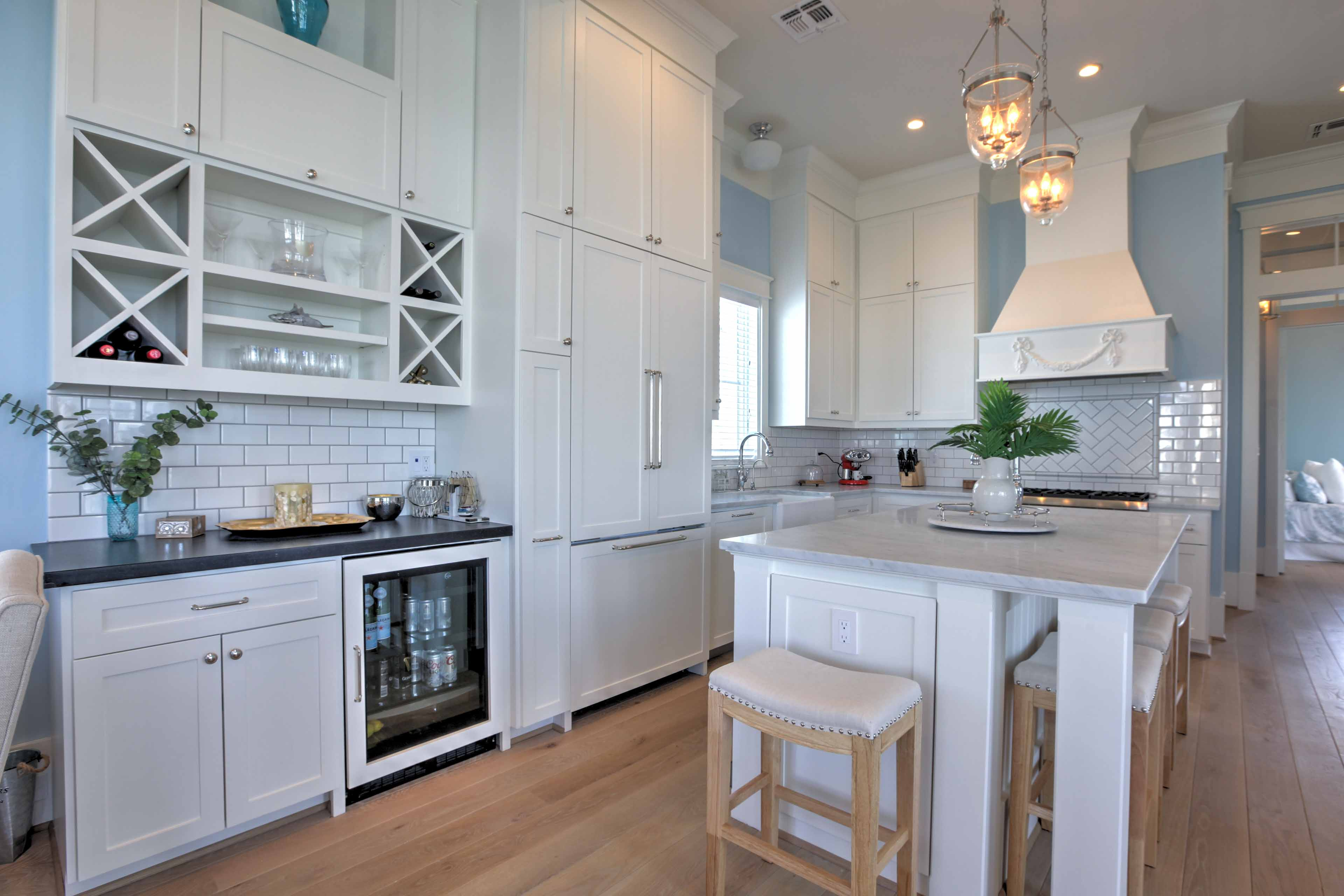The fully equipped kitchen has everything you need to whip up your favorite recipes in the privacy of your vacation rental home.