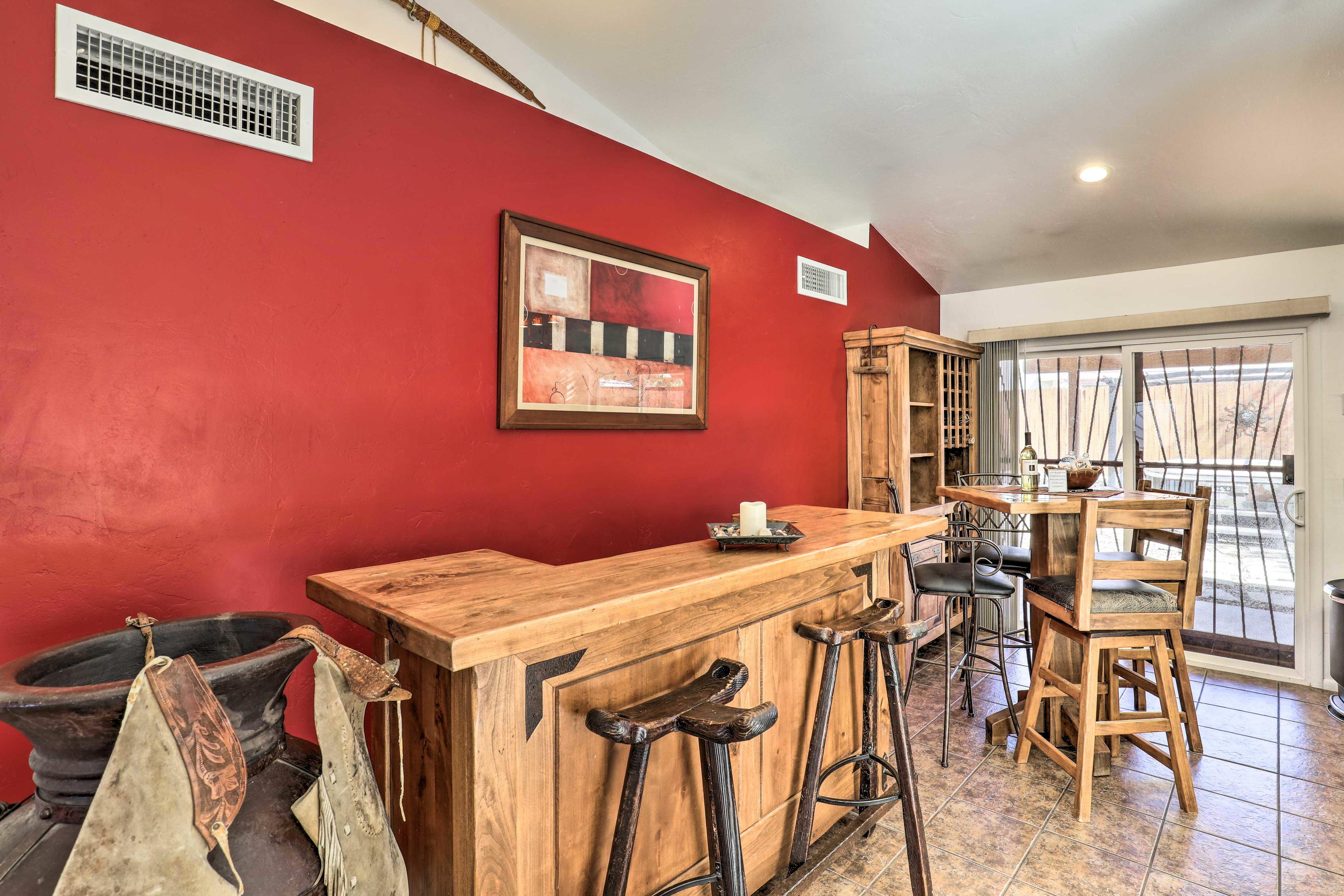 Living Room | Custom Bar