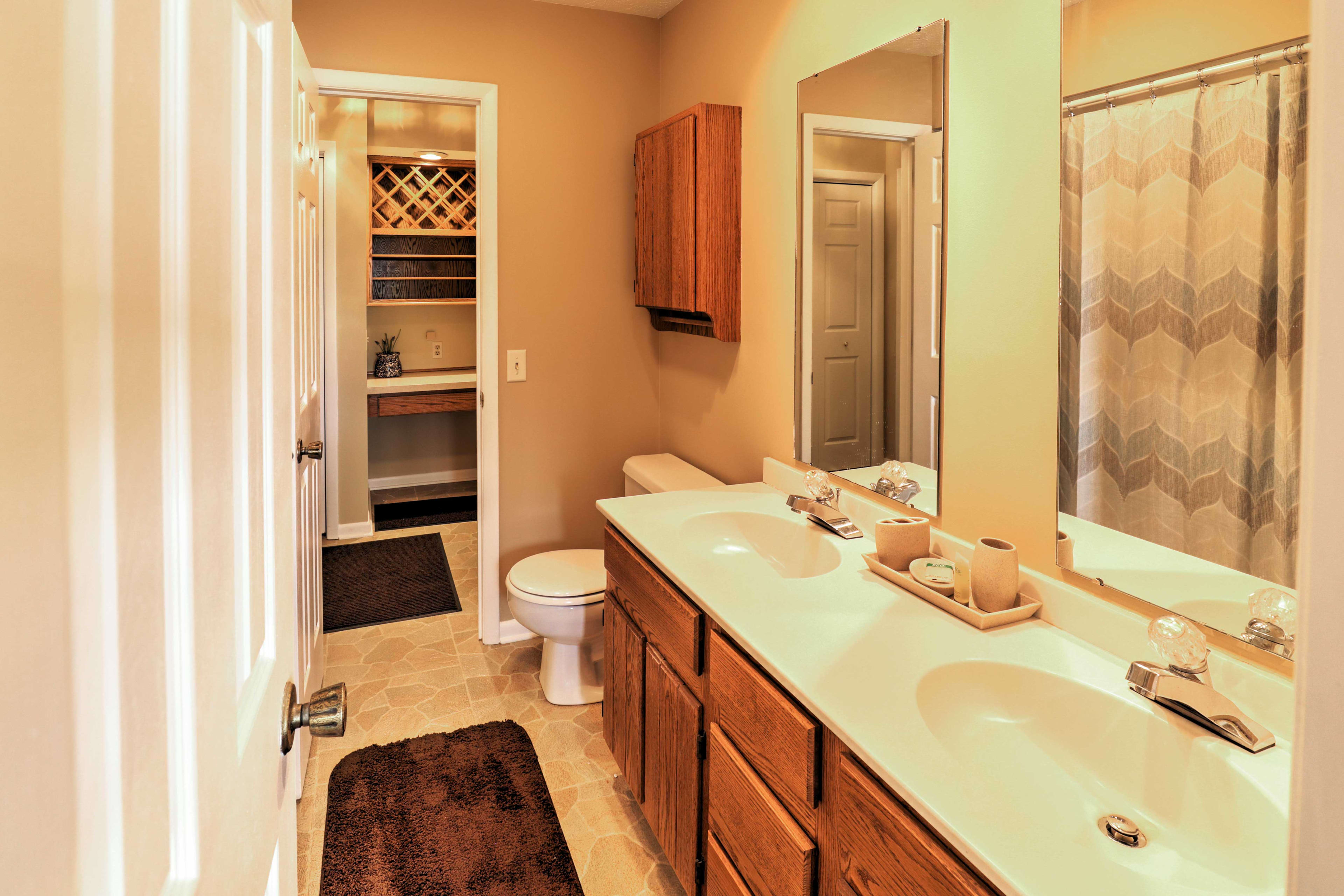 This home features 2 bathrooms for guests to use.