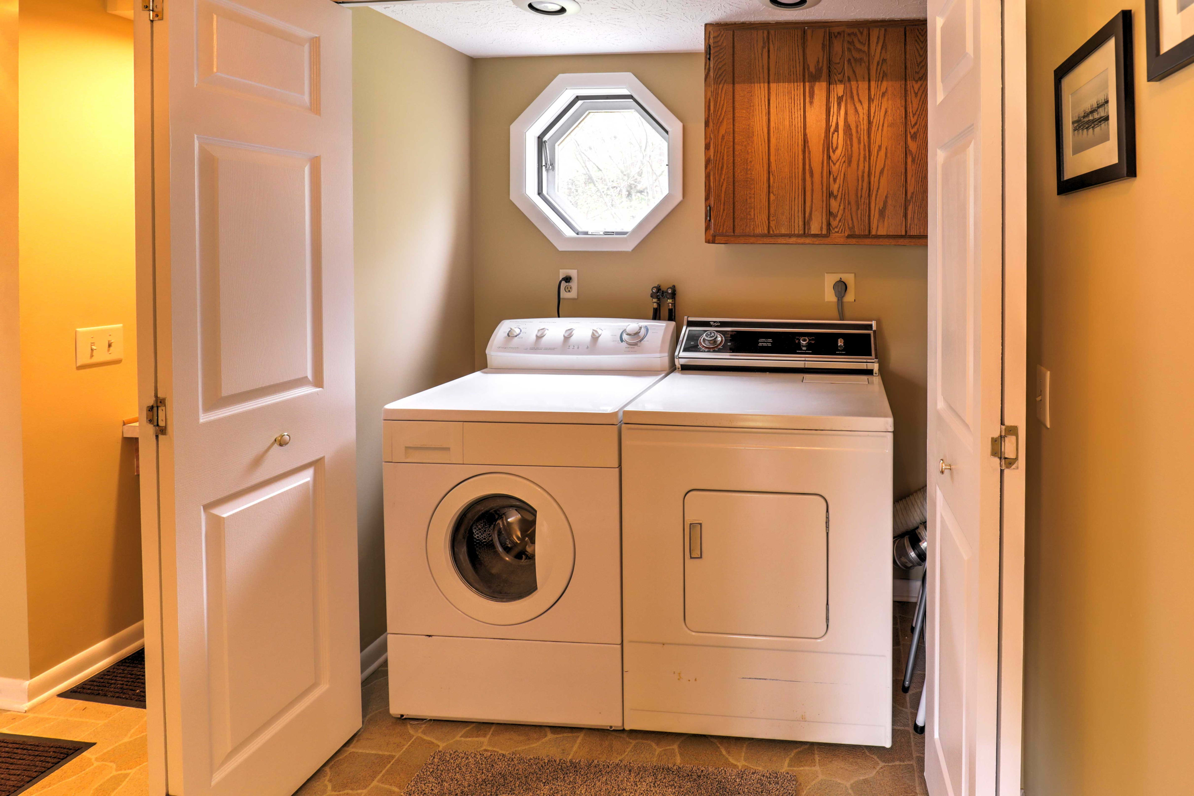 Laundry machines are available for your convenience.