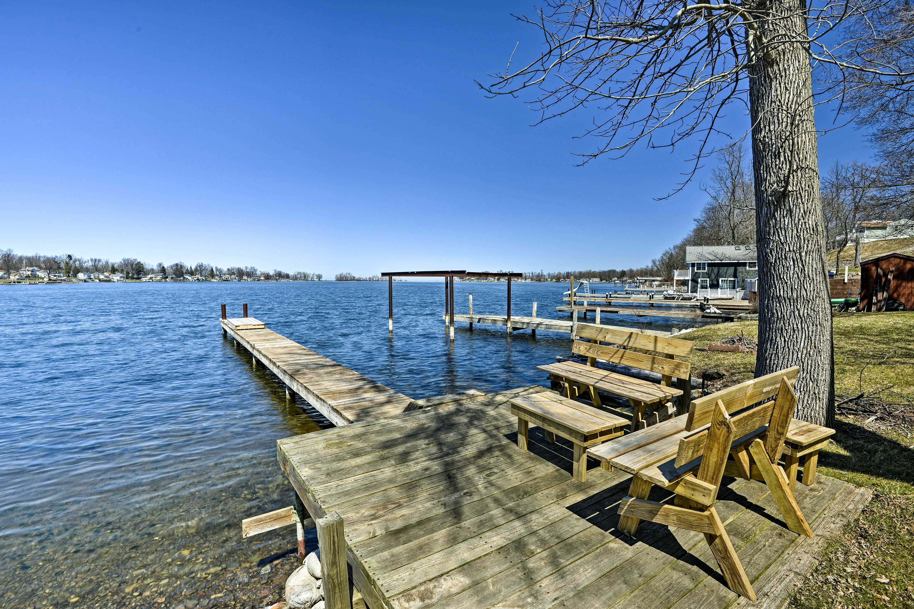 Tie your boat up to this deep water dock.