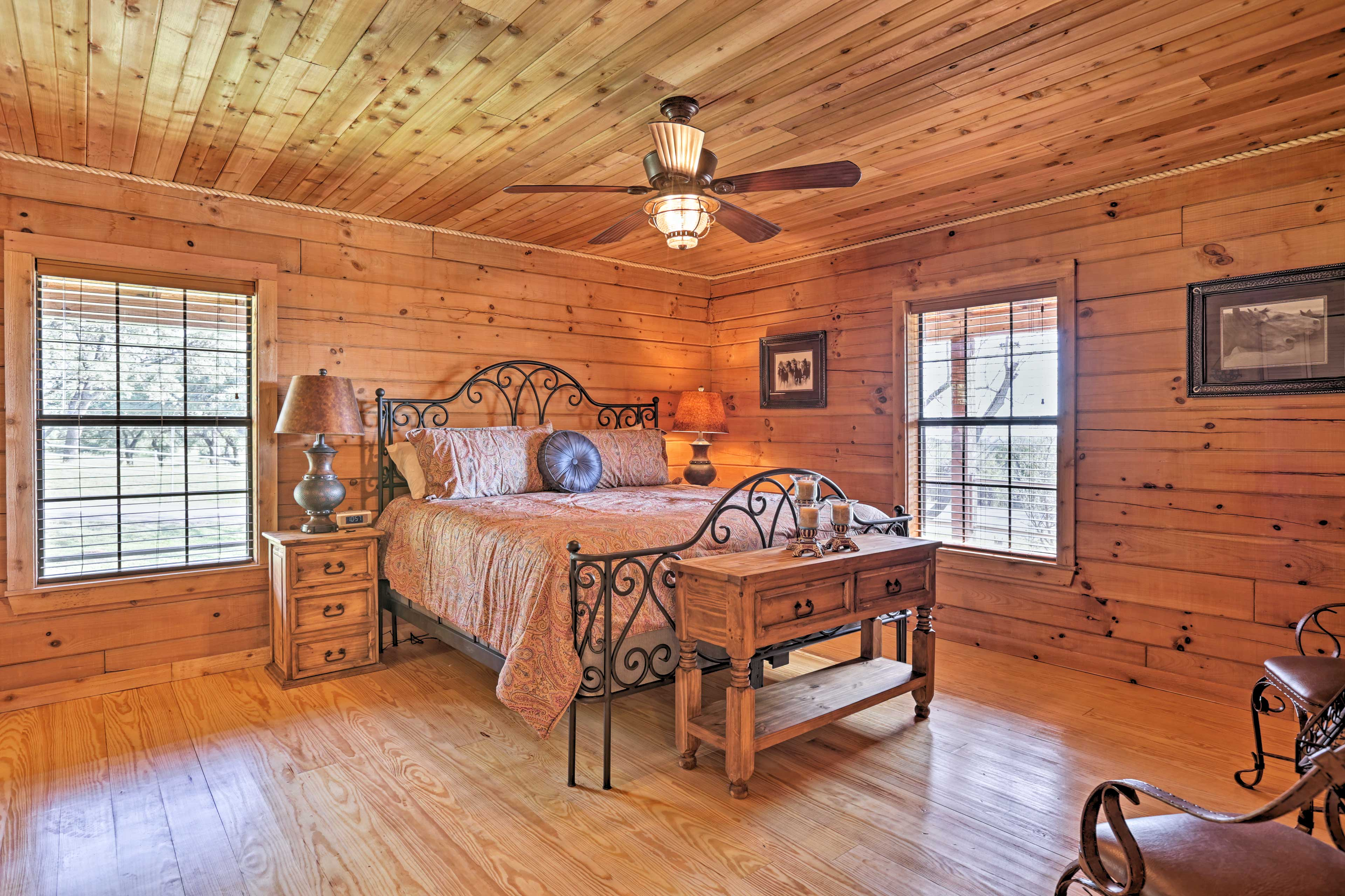 Each bedroom awaits with Texas-inspired bedding comfortable mattresses
