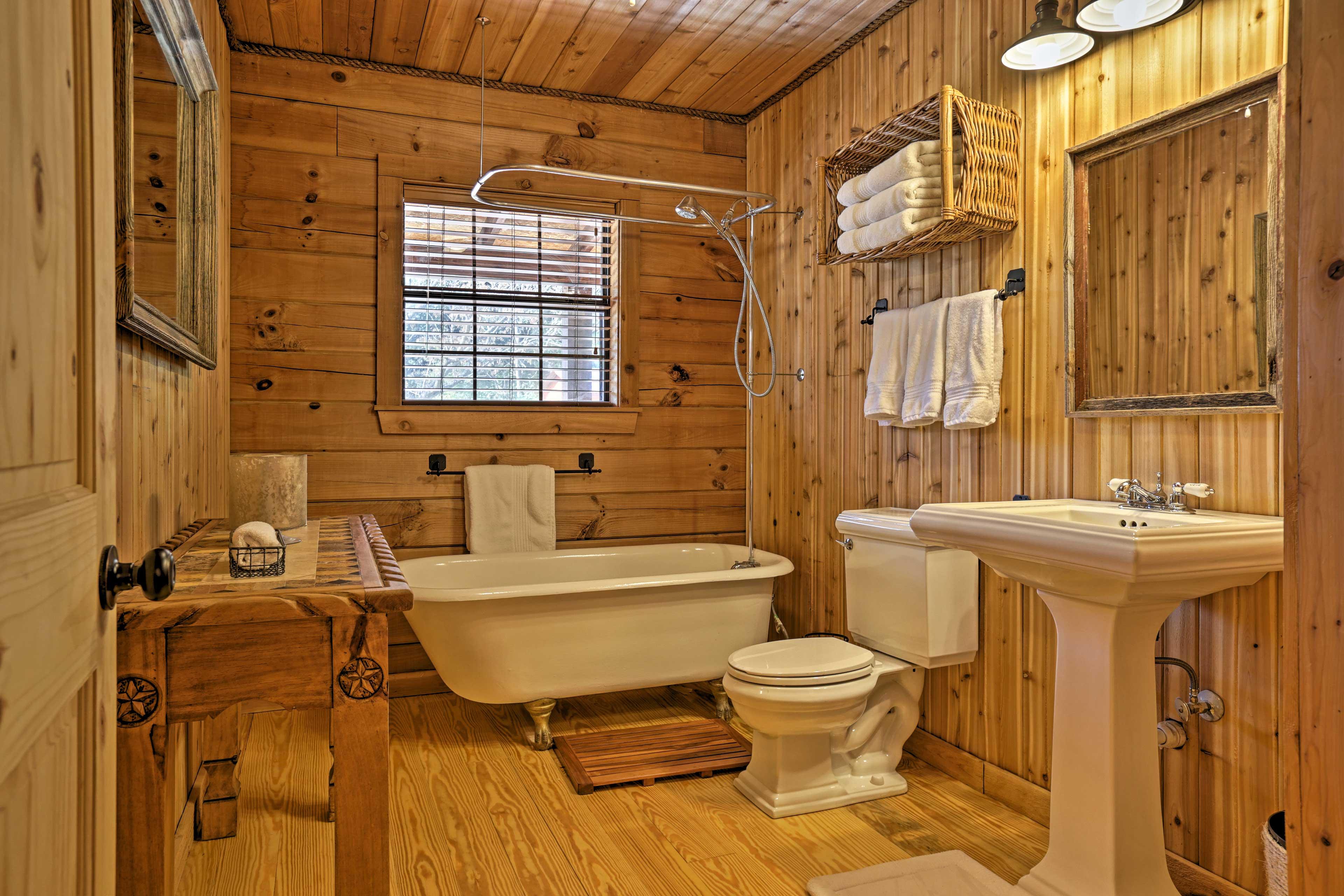 You'll appreciate the privacy of each modern bathroom.