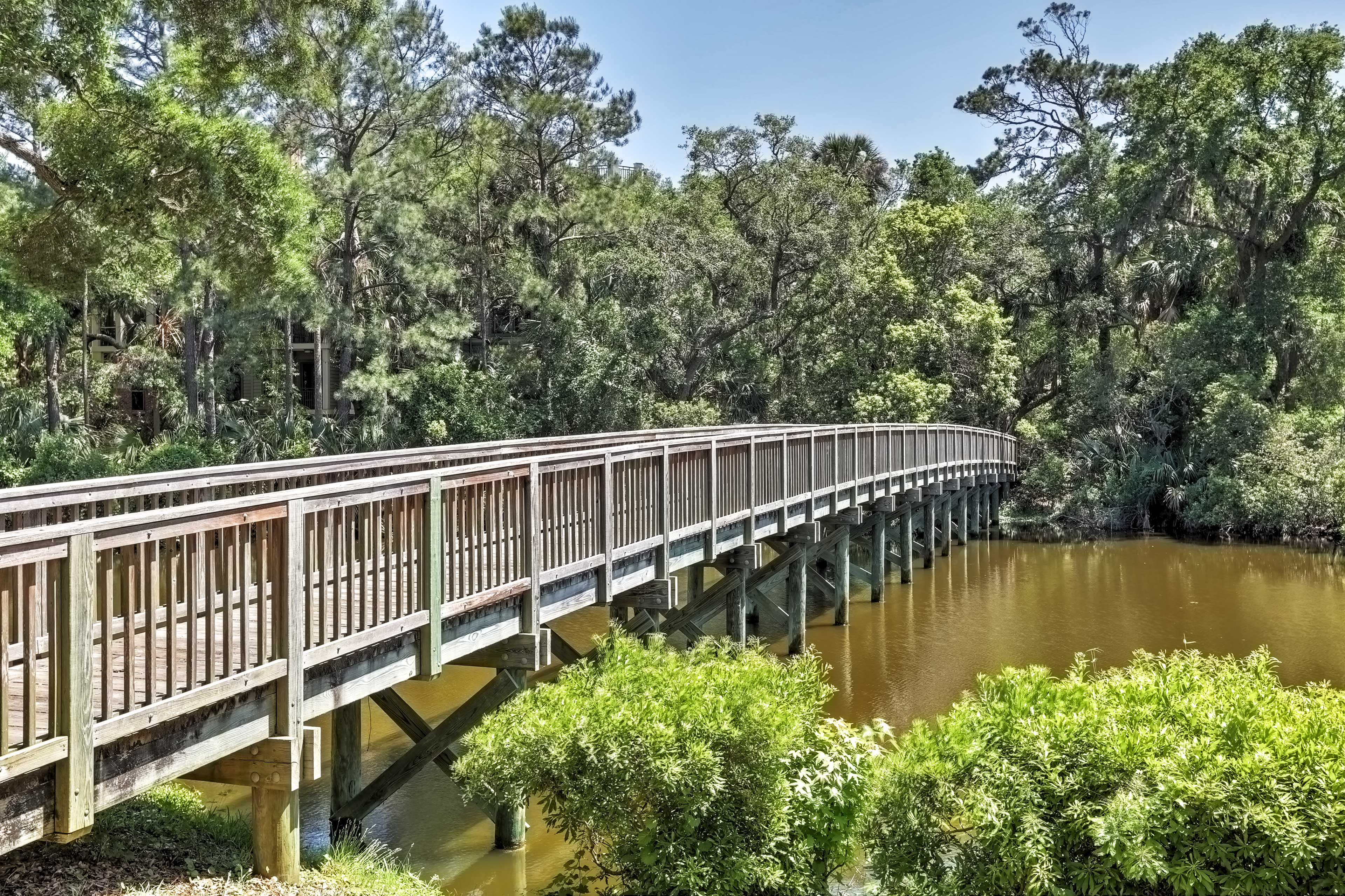 The trails that web the resort make for pleasant outdoor excursions.