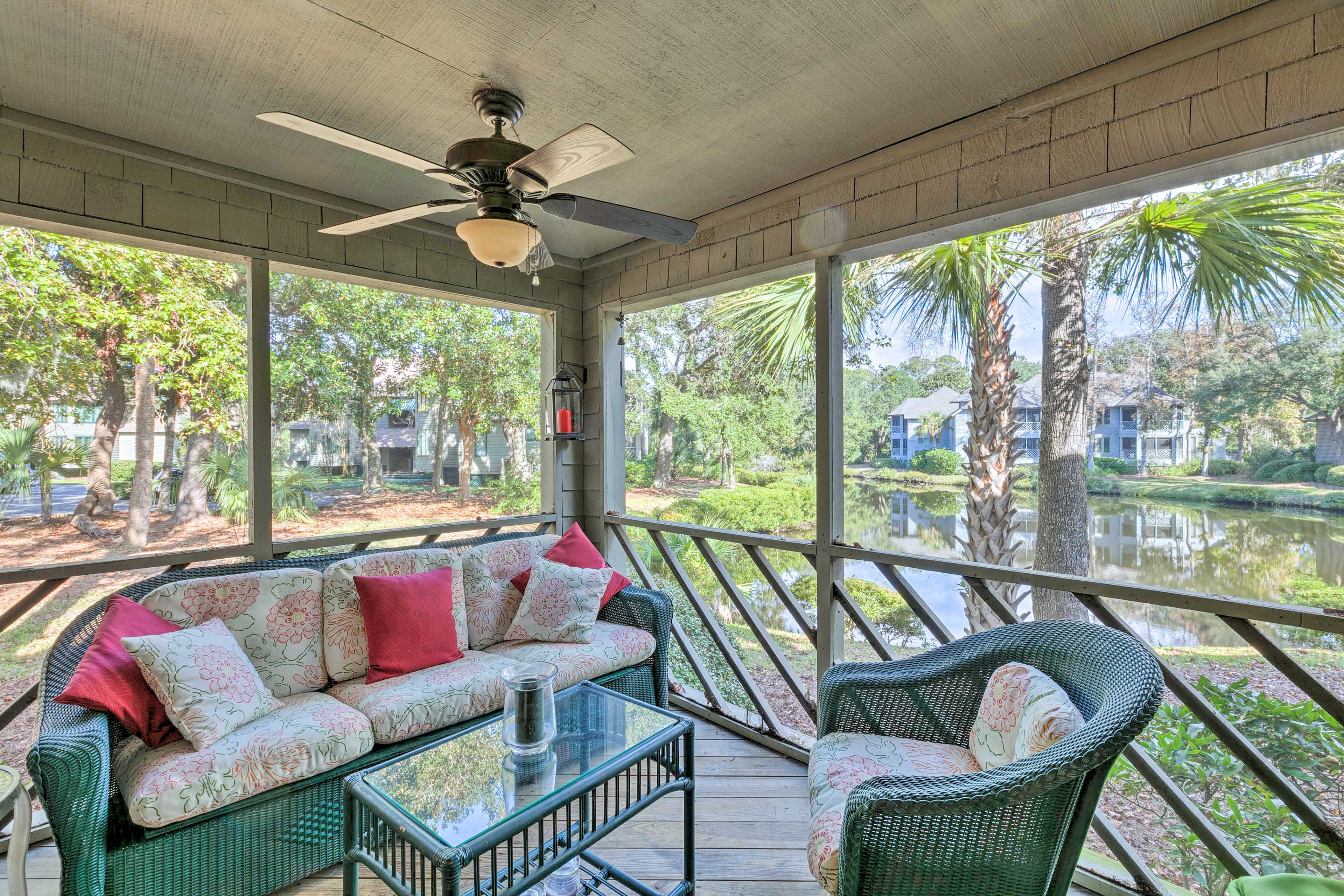 Relax outdoors while staying at this 2-bedroom, 2-bath vacation rental condo.