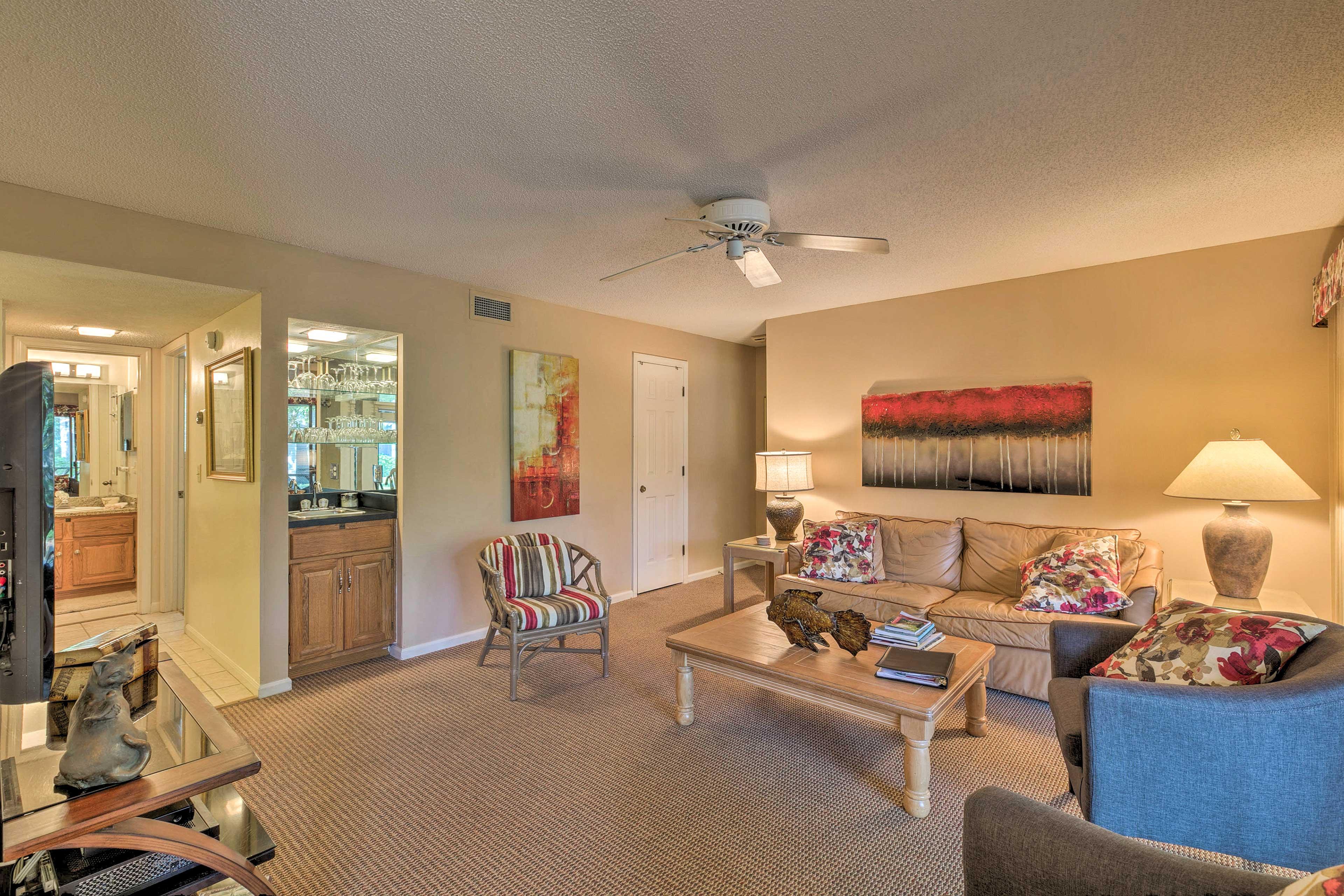 This Kiawah Island home is both elegant and comfortable.