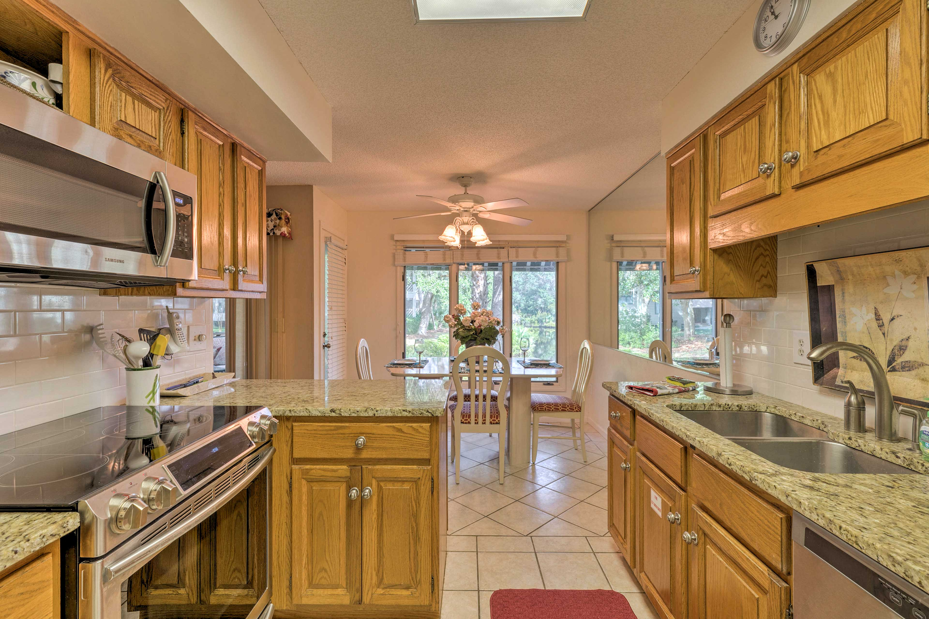 The stainless steel appliances make cooking a breeze!