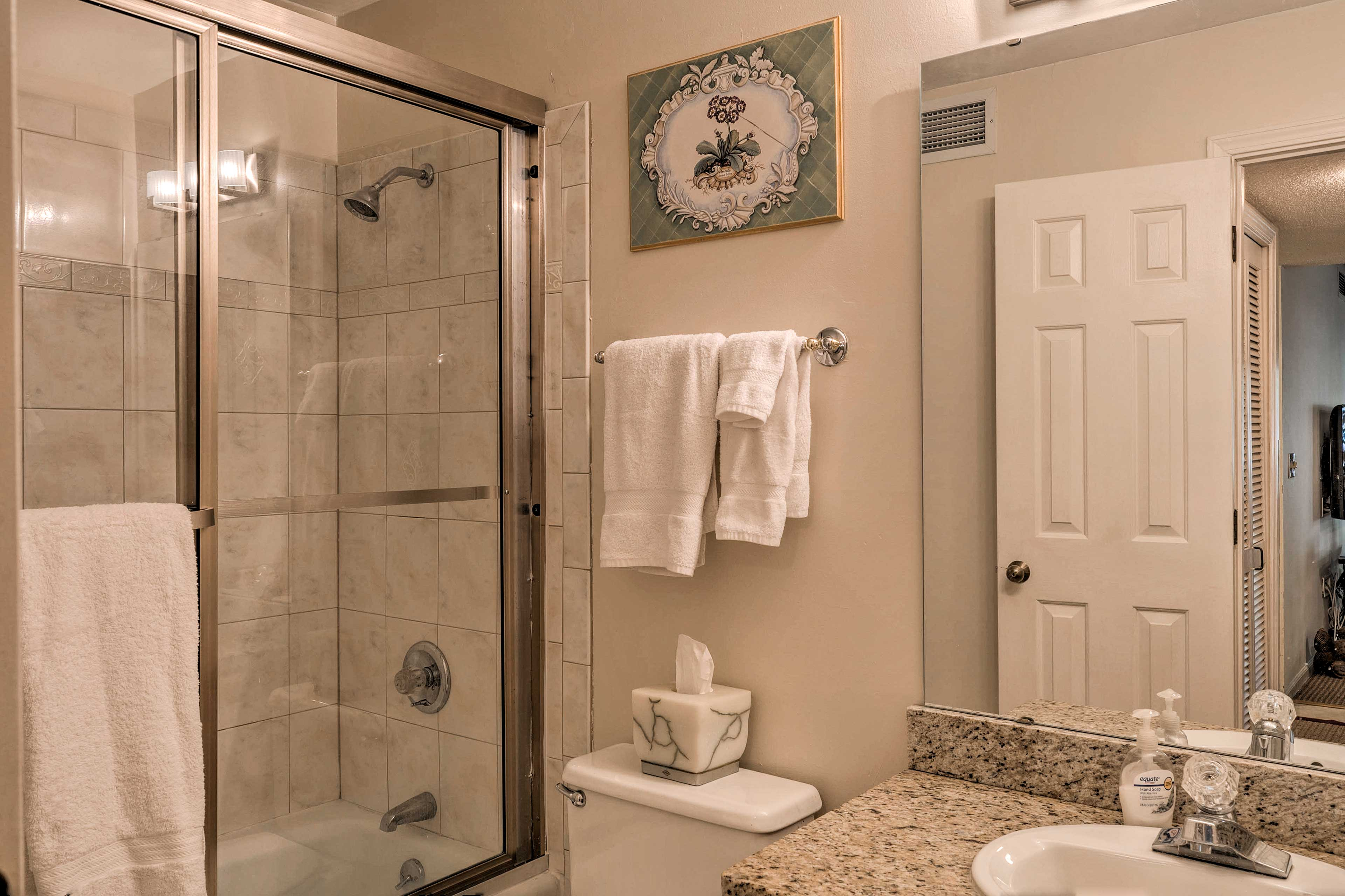 A second en-suite bathroom is provided for your convenience.