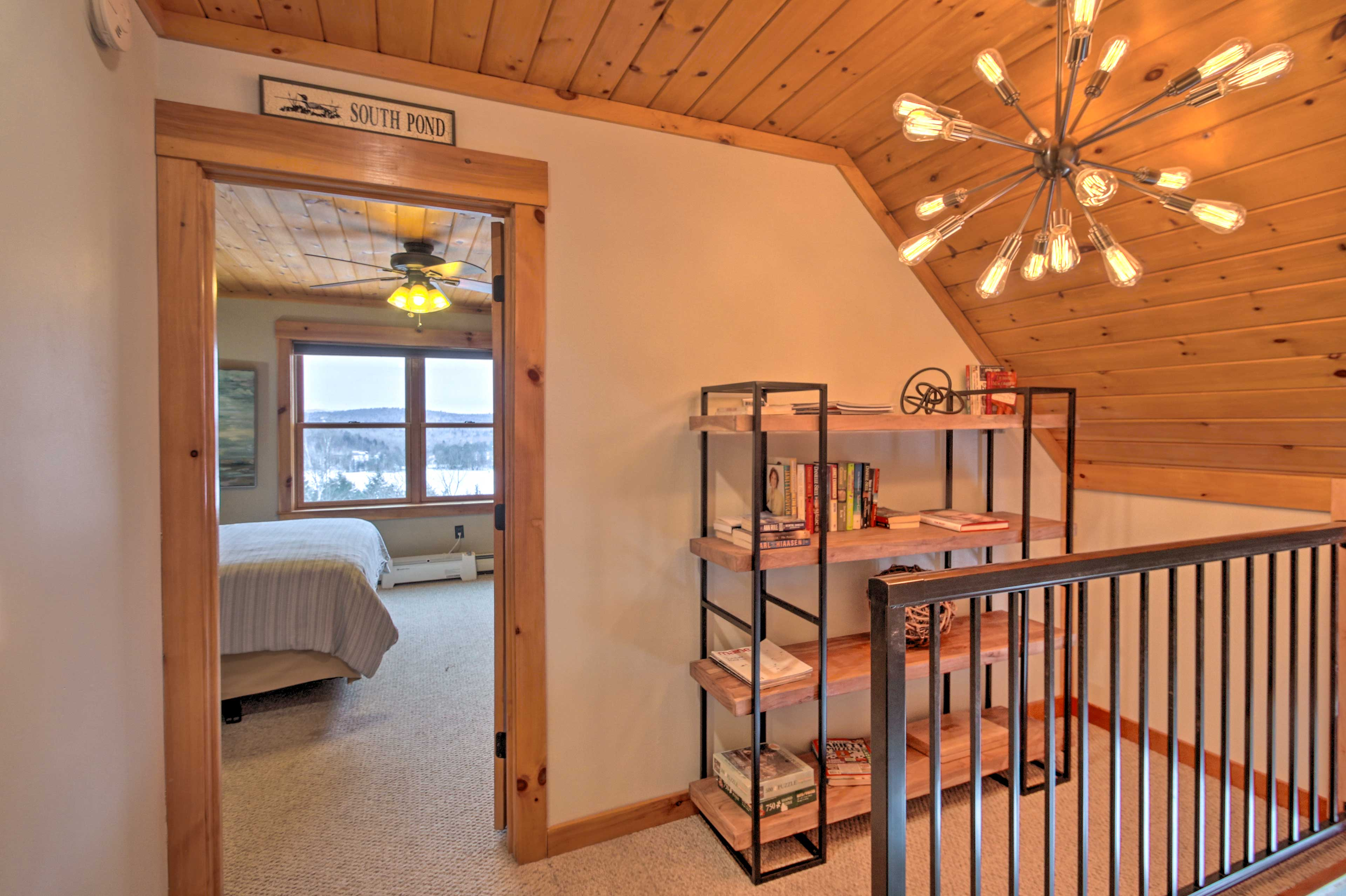 Head upstairs, where you'll find 2 bedrooms.
