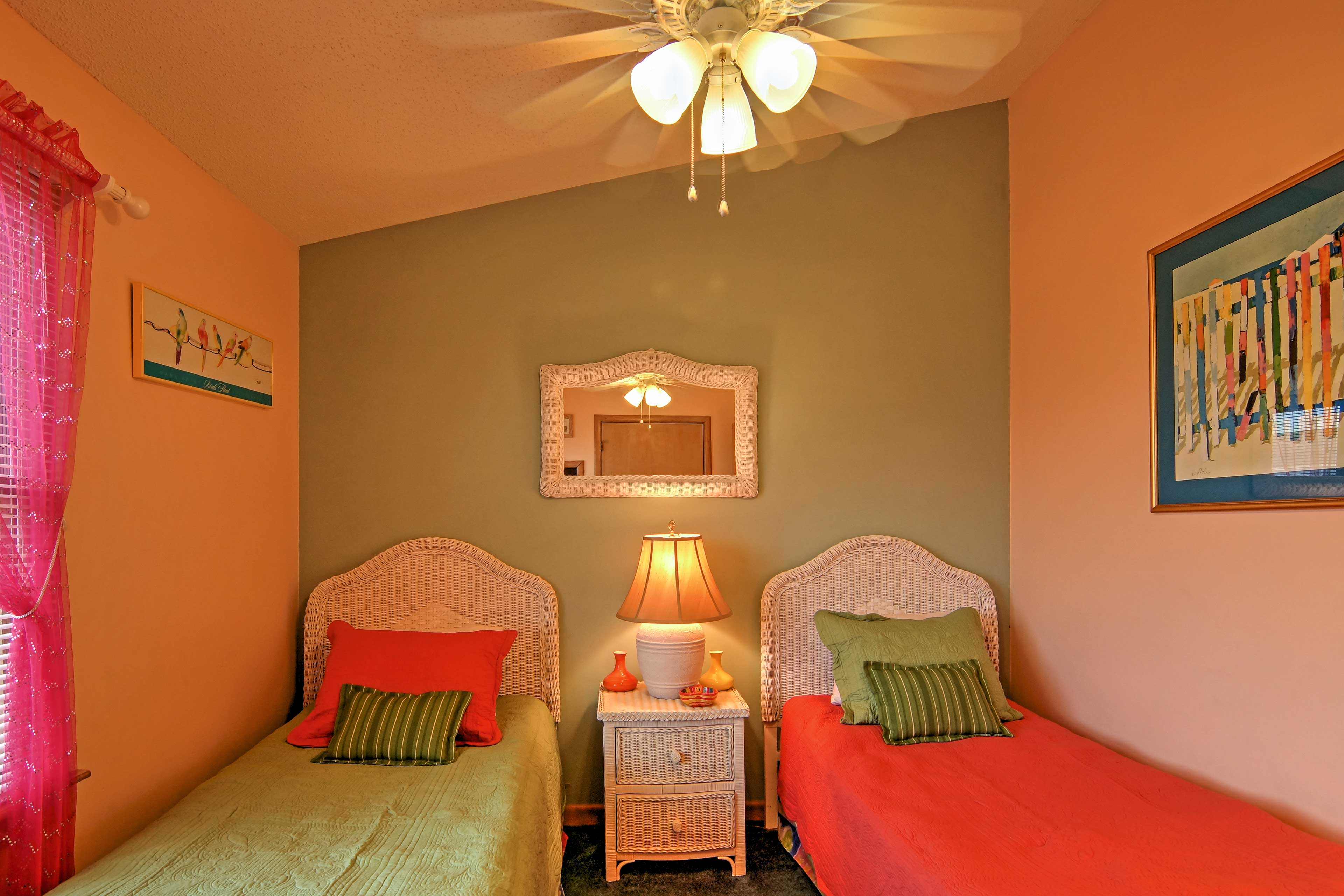 Younger travelers will love their own beds in the home's 'Twin Room.'