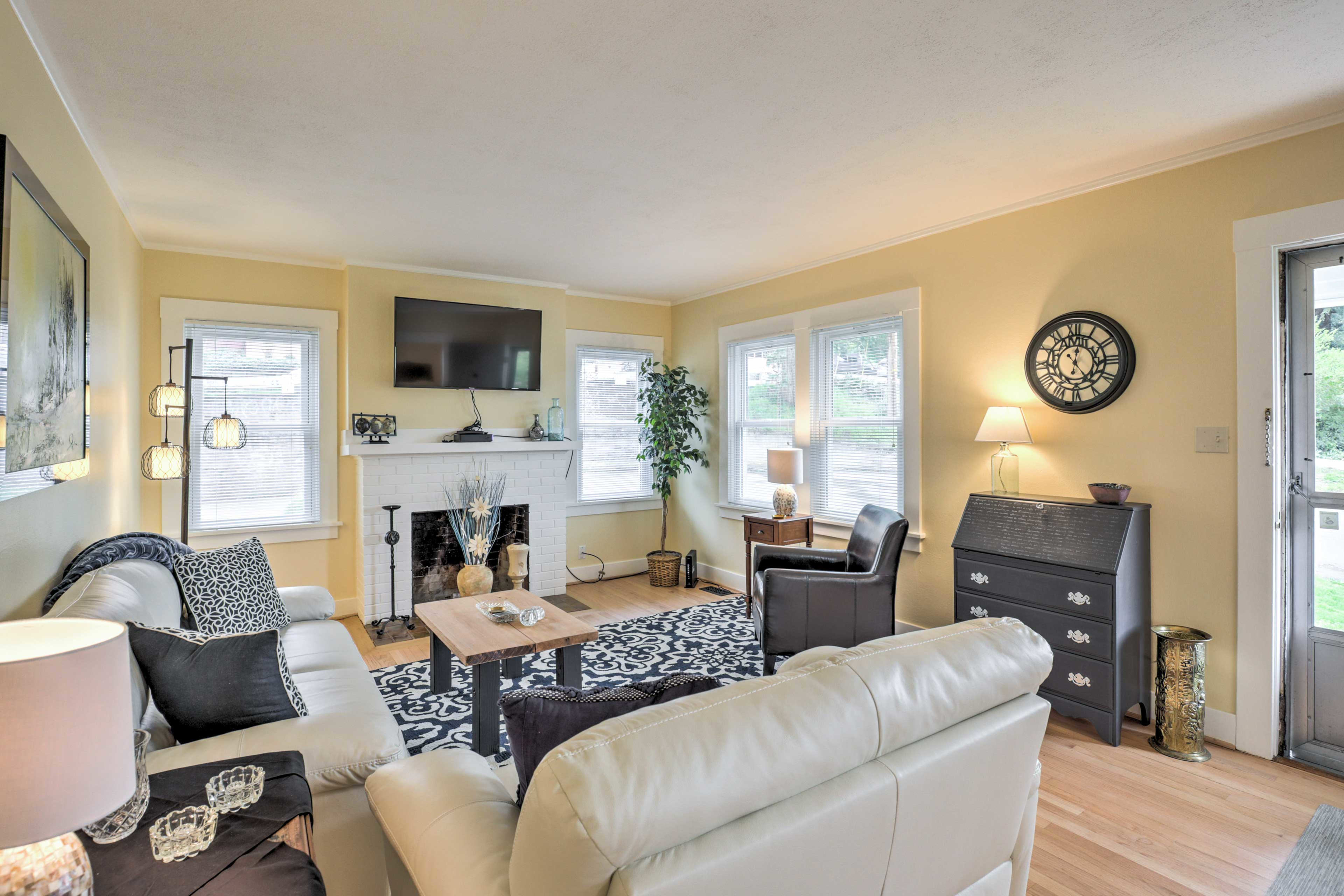 Newly remodeled, this home offers high-end decor and lots of natural light.