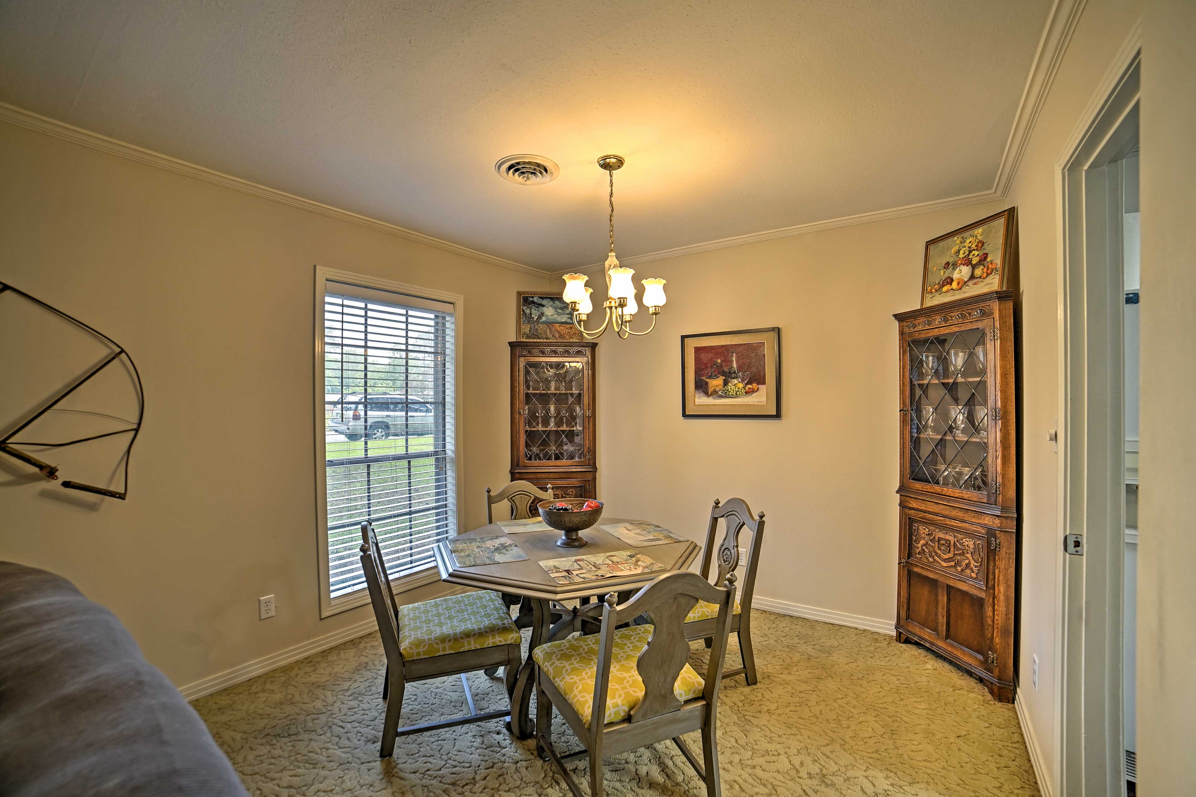 Gather around this dining table to share home-cooked meals together.