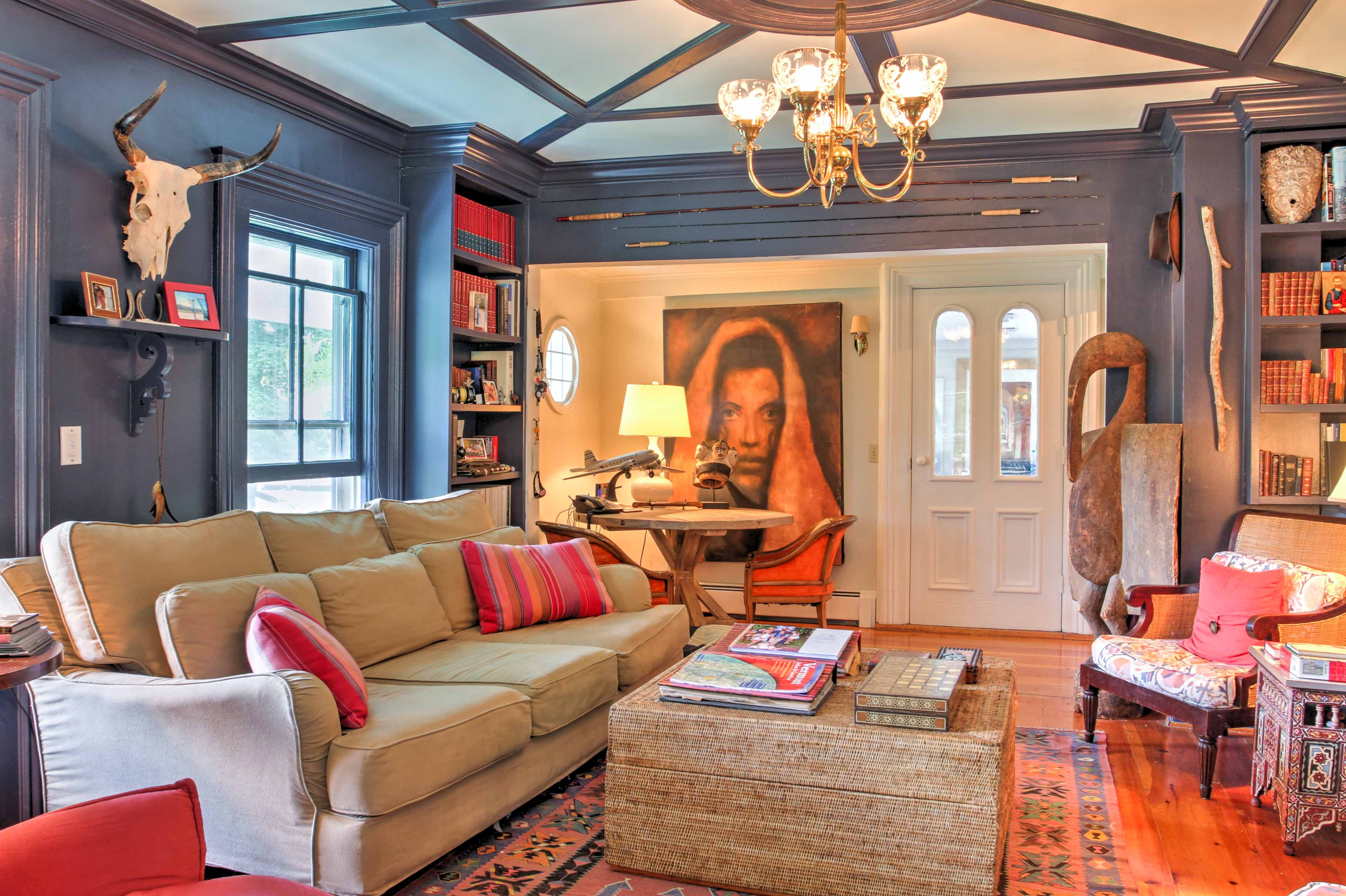 Enjoy some quiet downtime in this sitting room and lose yourself in a book.