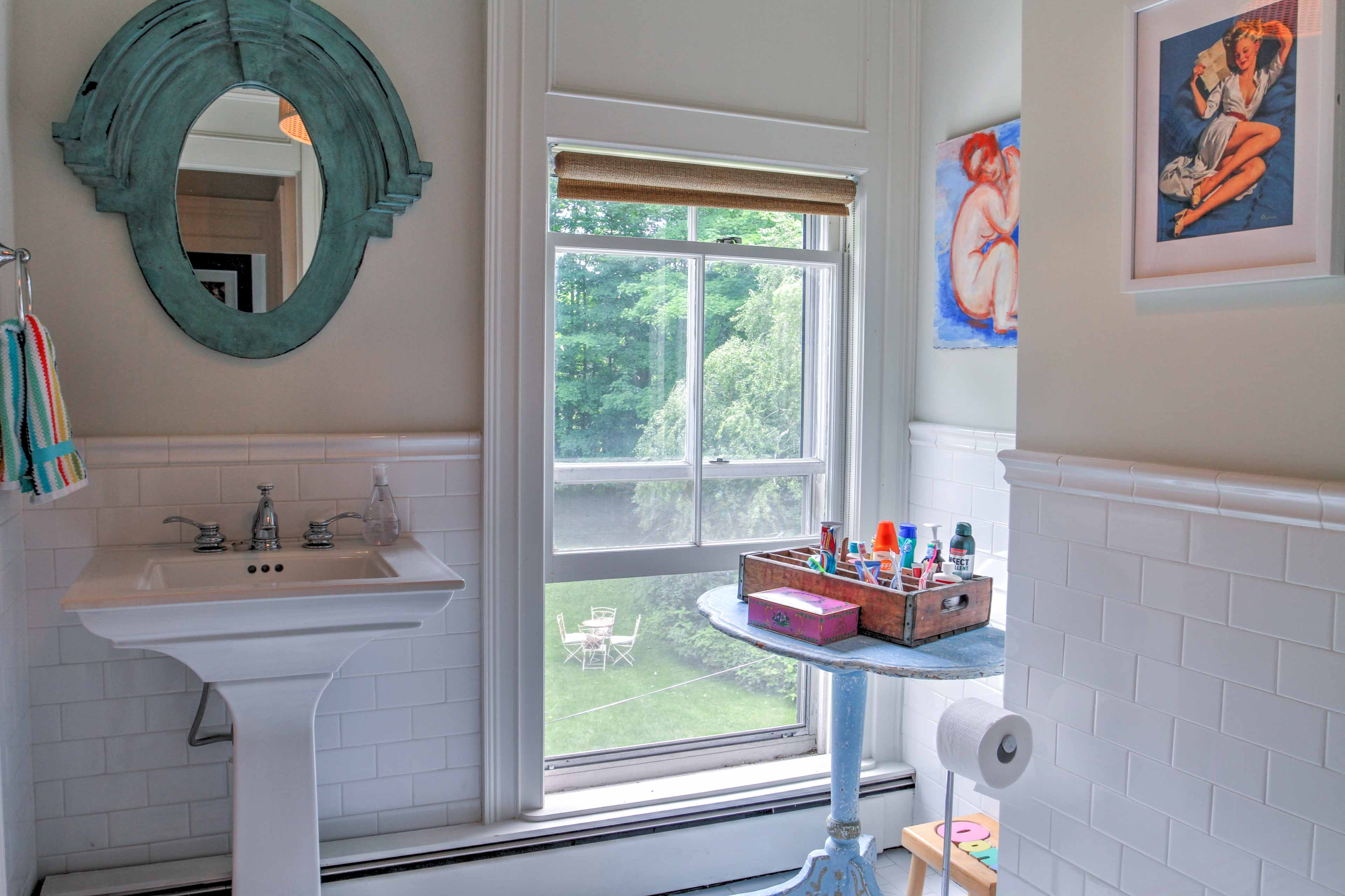 Natural sunlight streaming in offers great lighting for getting ready.
