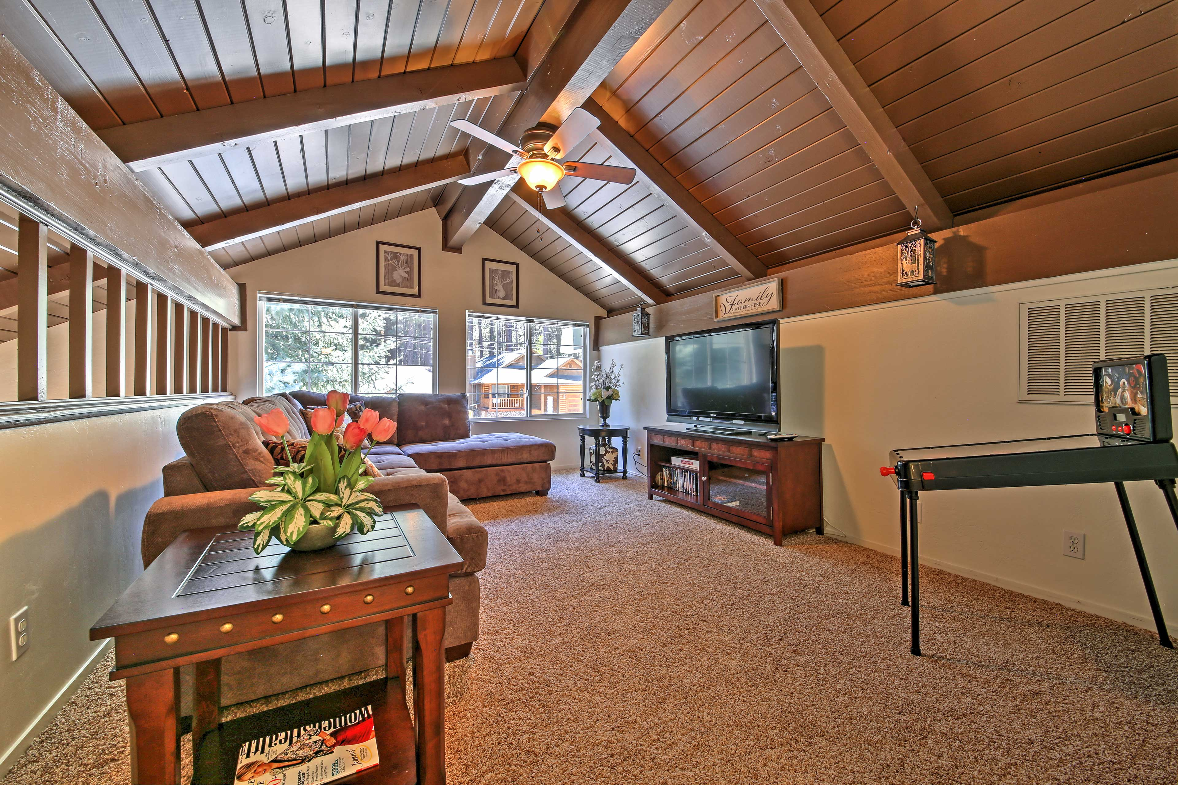 Host a family movie night in this spacious room!