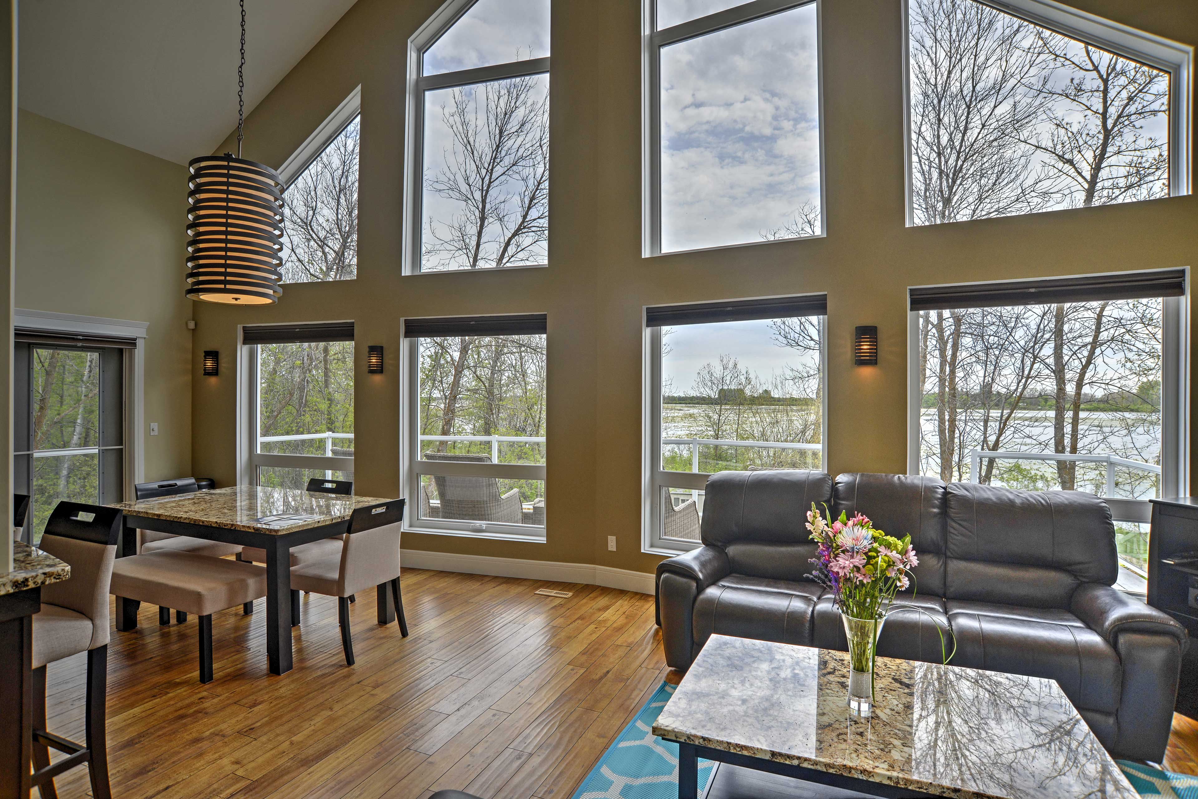 Large windows let in plenty of light and provide amazing views.