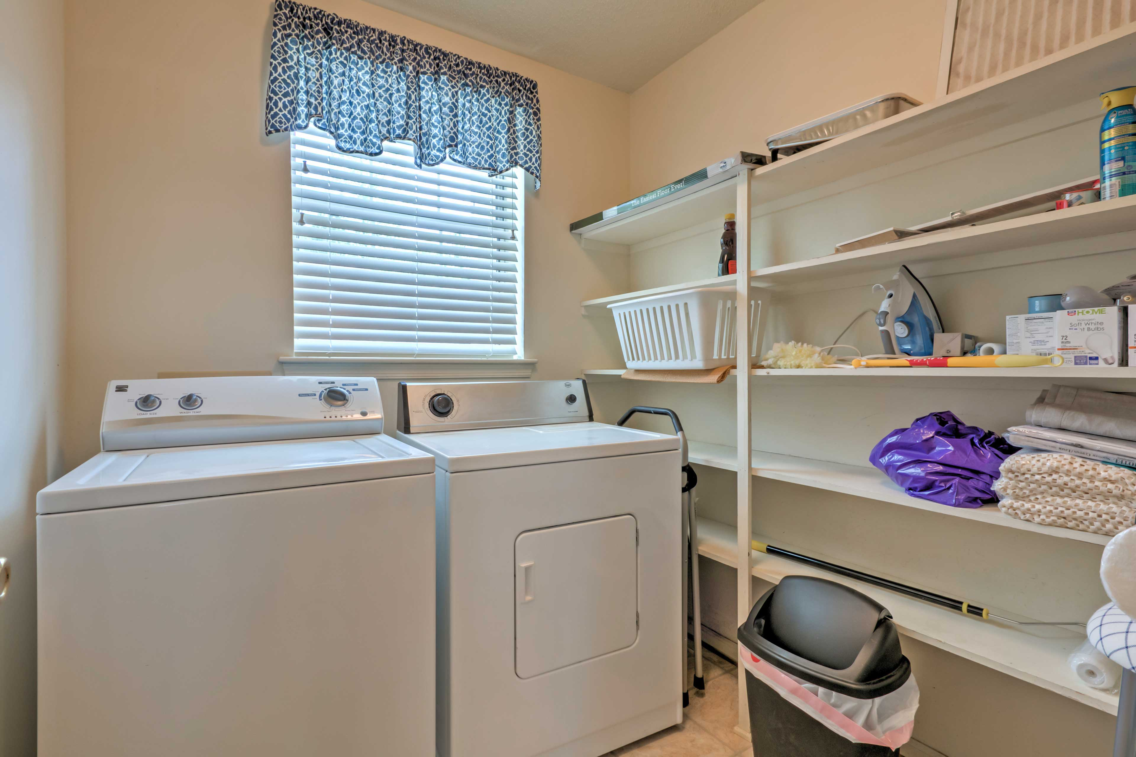 In-unit laundry machines are provided for your convenience.