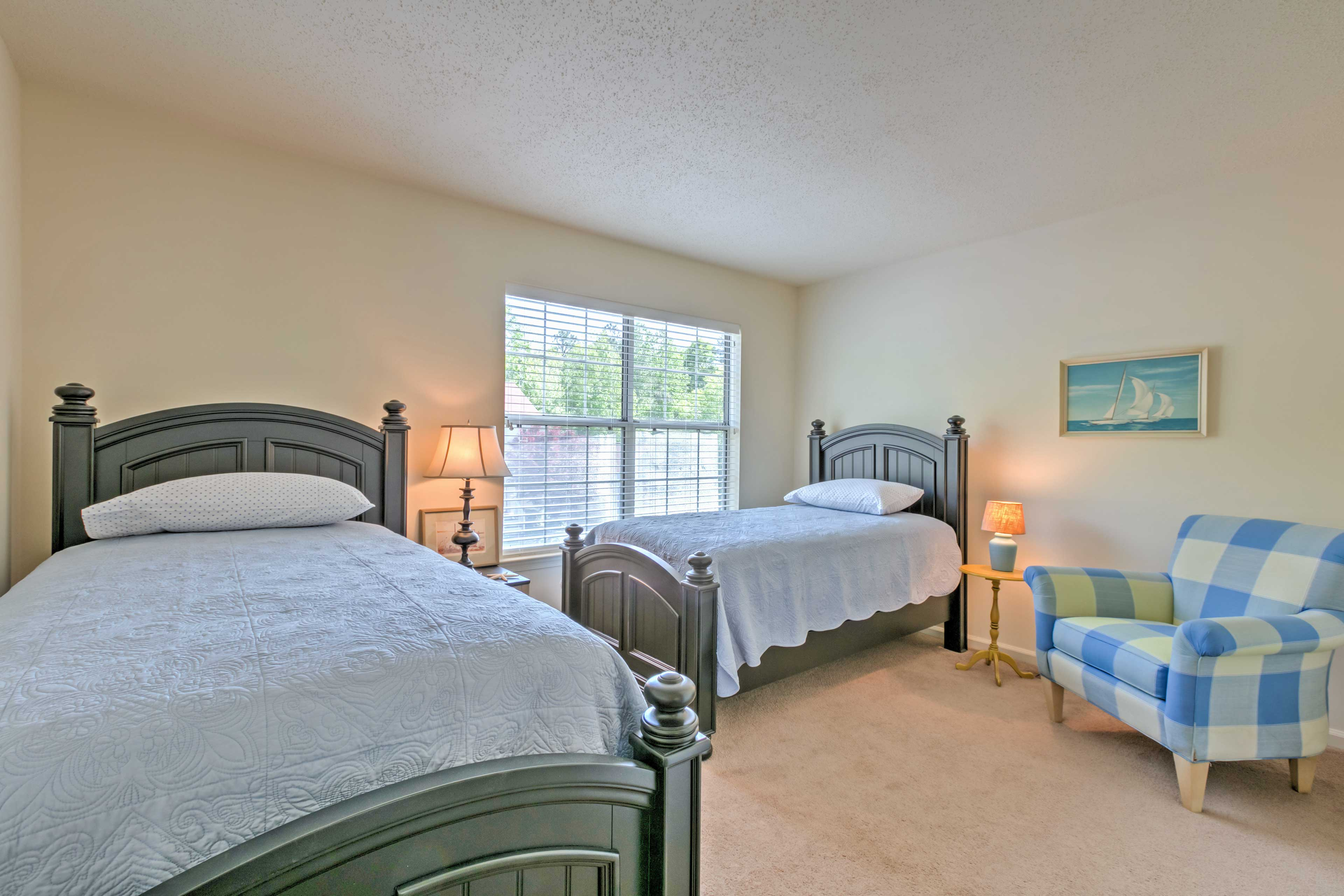 This next room contains 2 twin-sized beds.