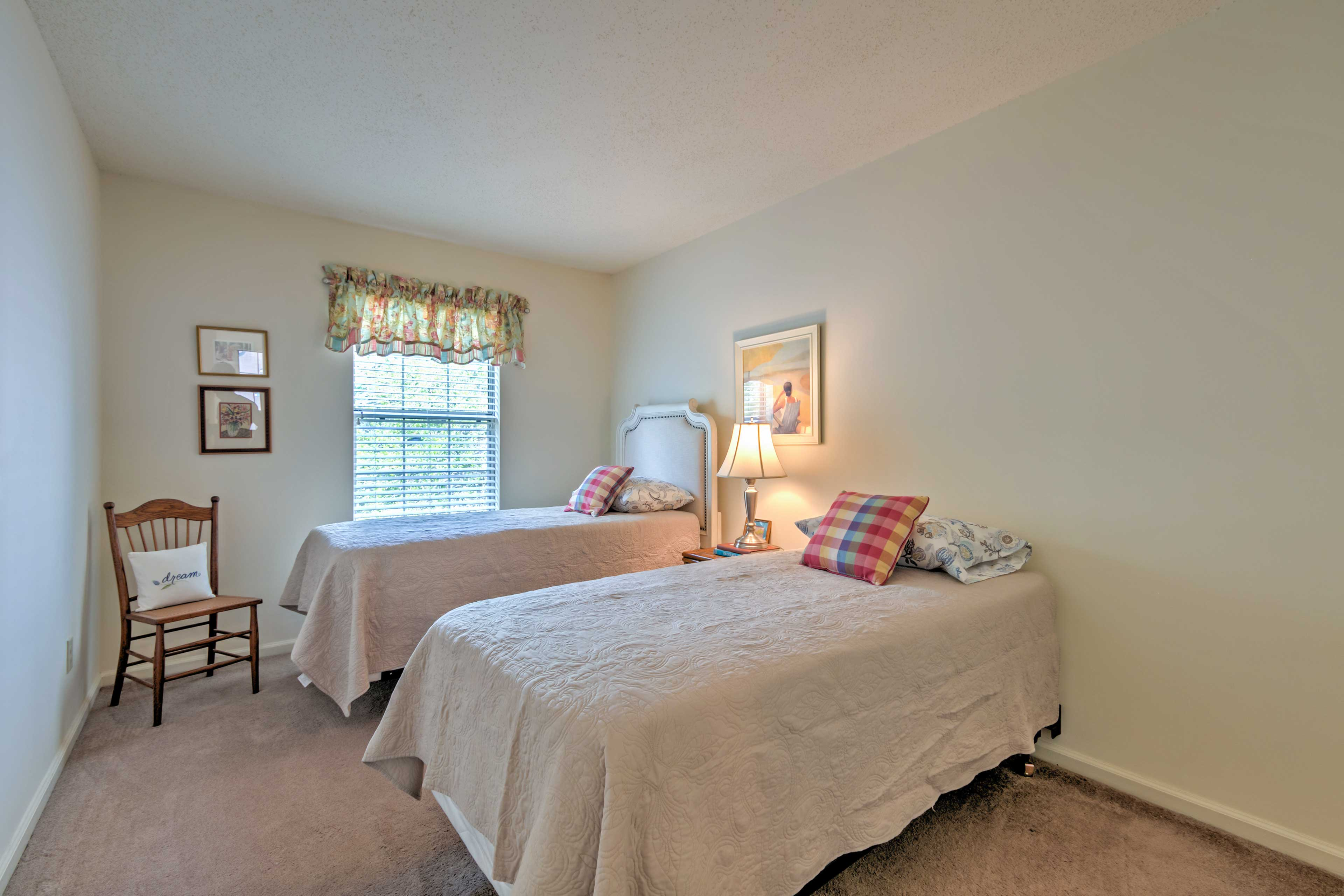 Children love sharing this room with 2 twin beds.