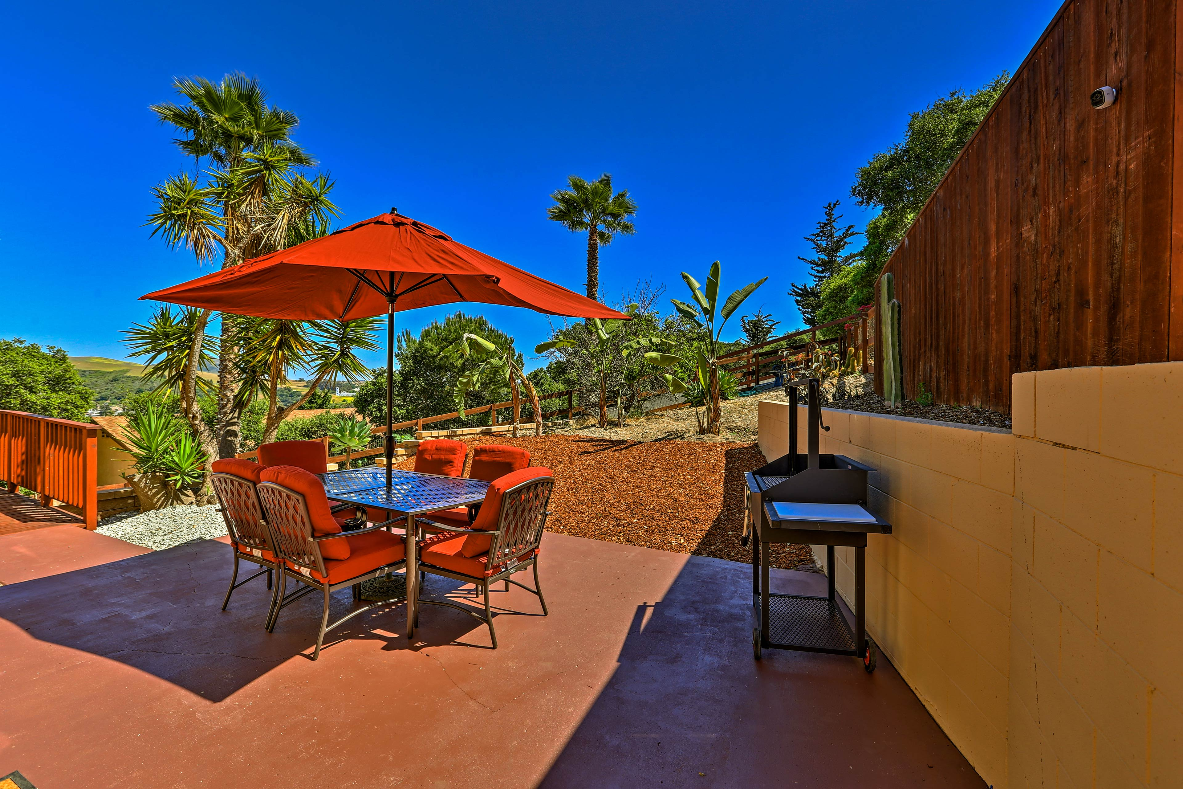 Bask in the California sunshine on your private outdoor oasis.