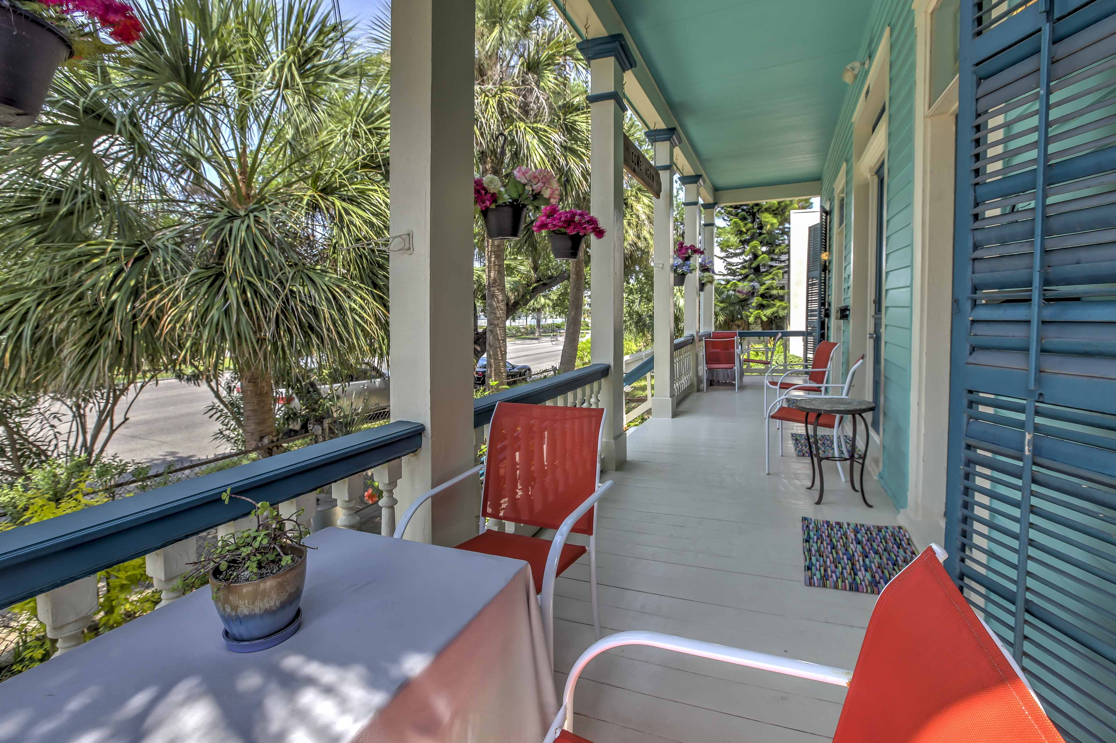 The apartment is located in Galveston's oldest and most charming neighborhoods.