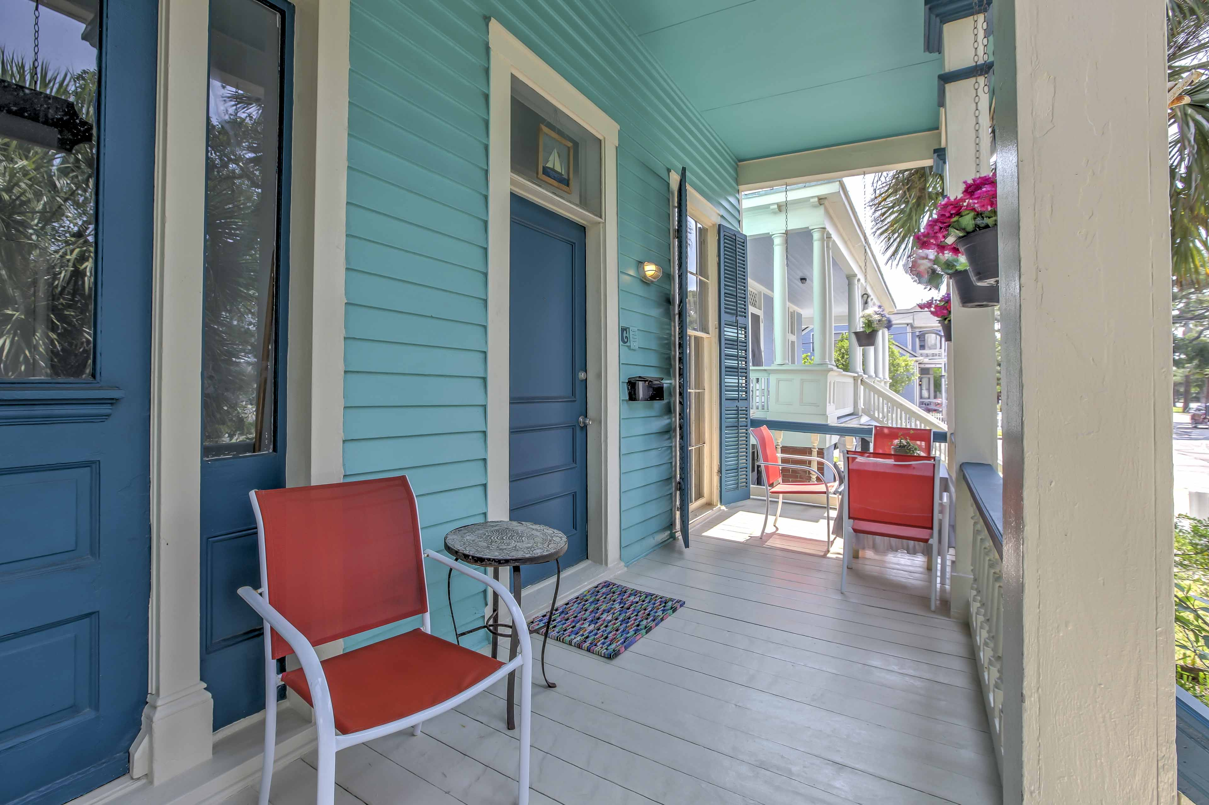 Soak up the weather on the front porch.