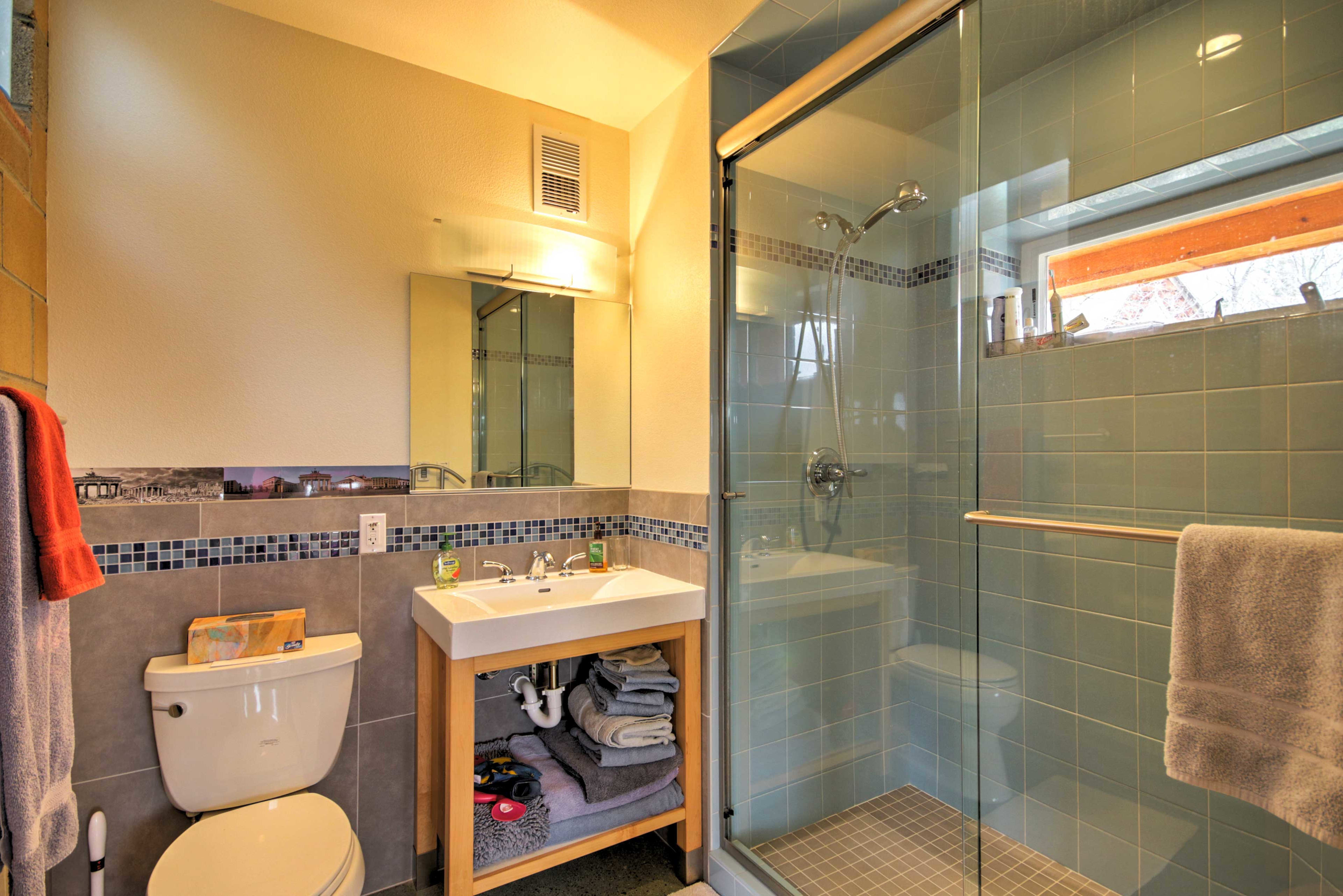 Enjoy the privacy of the master bathroom.