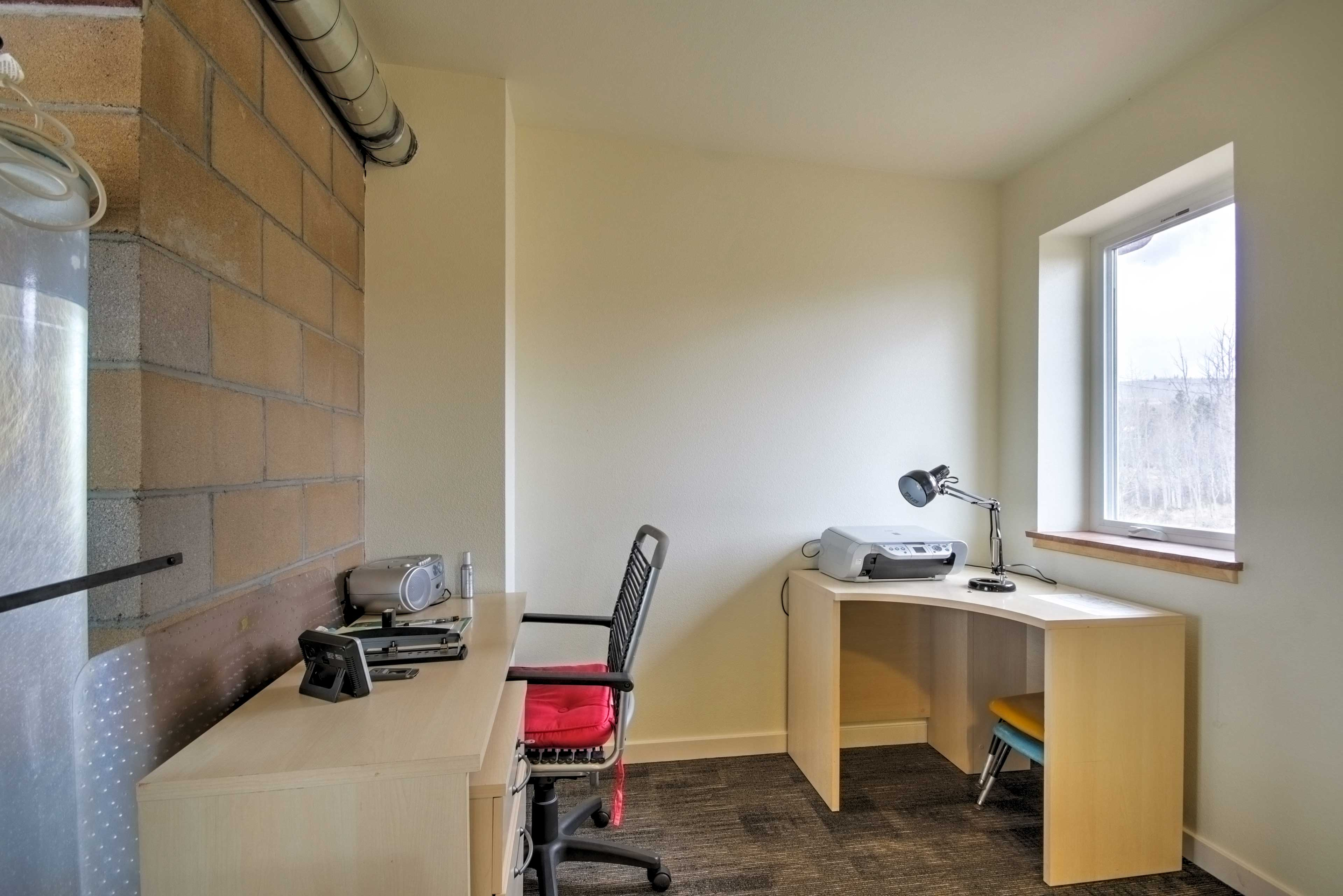 An office space allows you to get work done remotely!