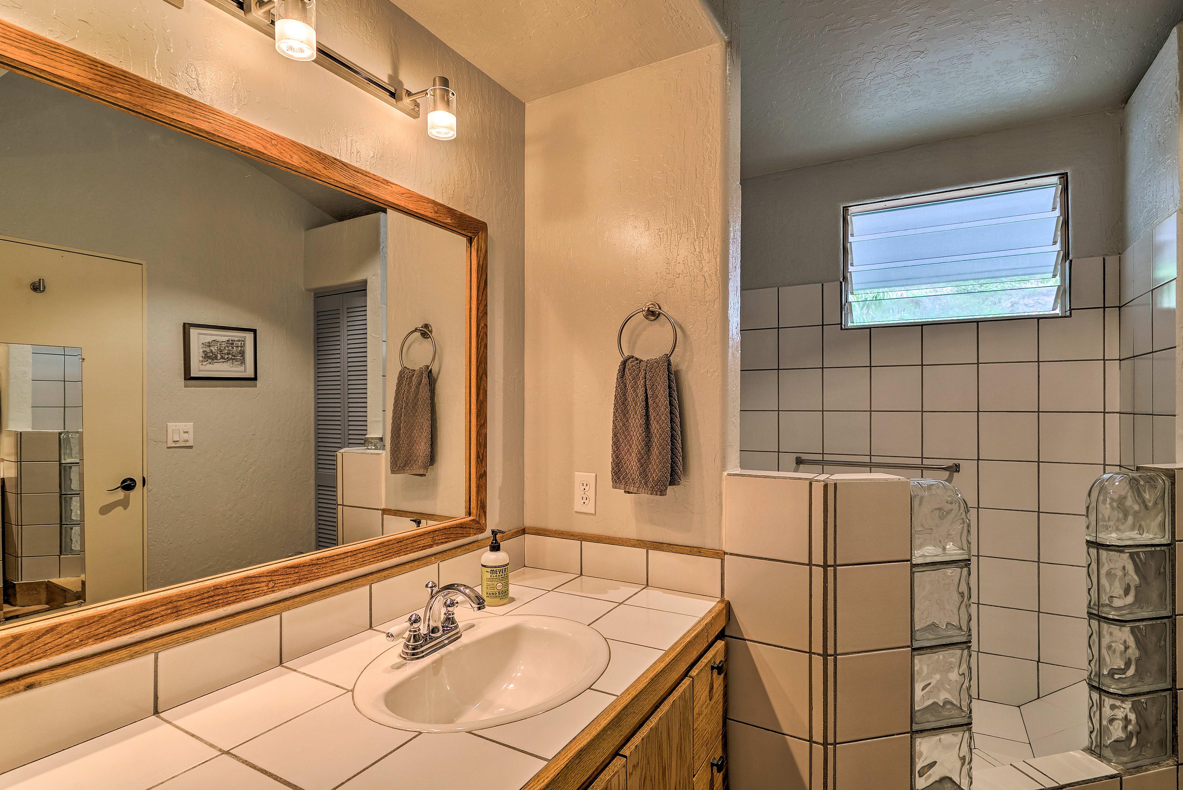 Each bedroom offers an en-suite bath.