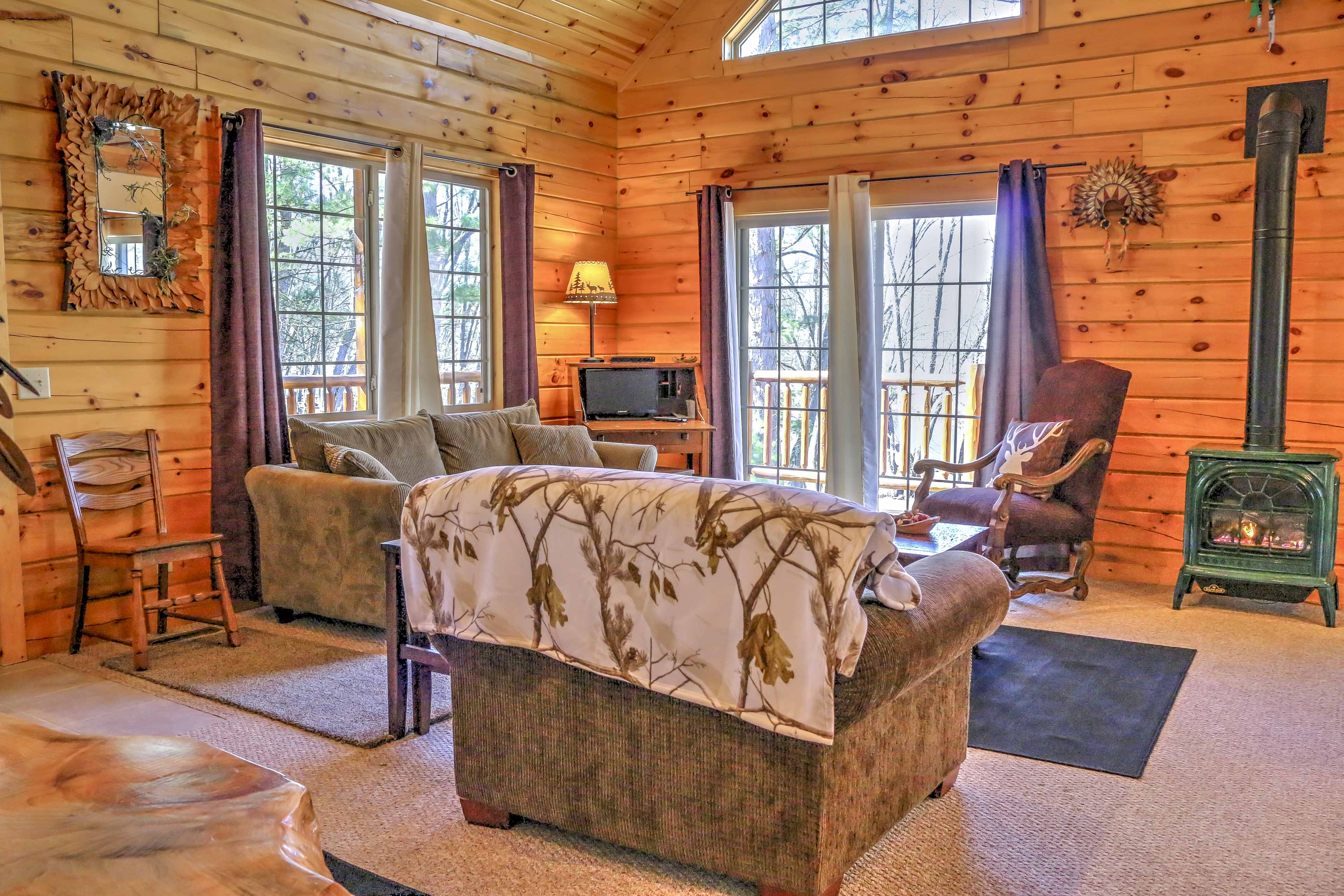 You'll feel right at home in this cozy cabin.