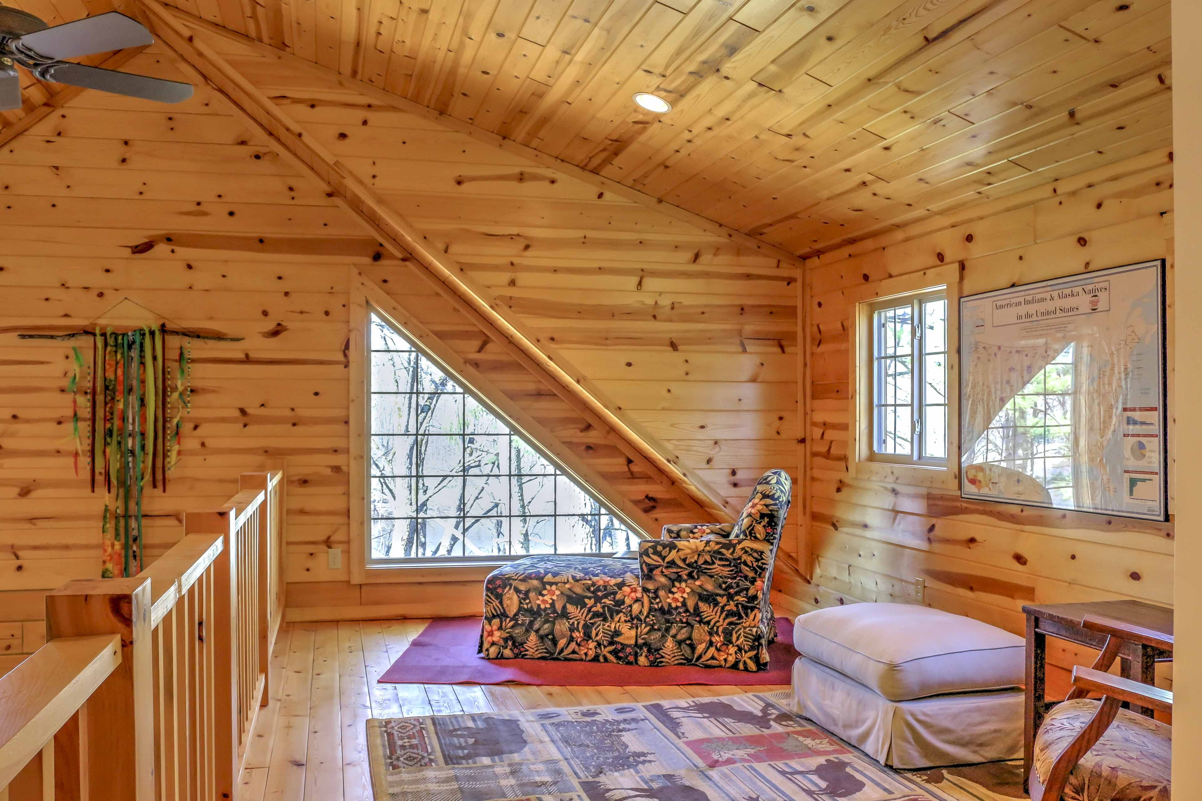 Enjoy quiet time reading in the loft.