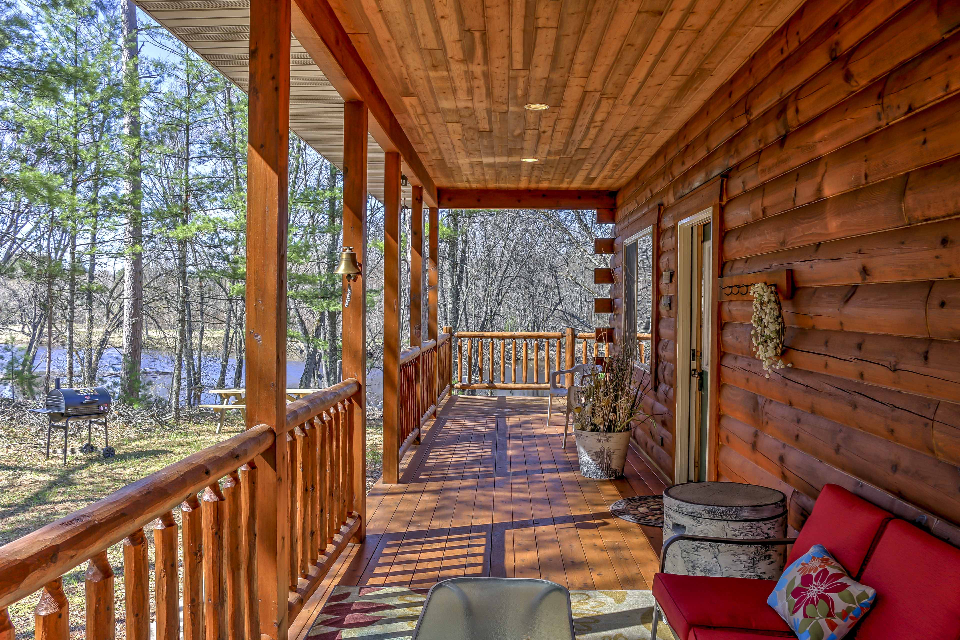 Get some fresh air on the large wraparound porch and sip a refreshing beverage.